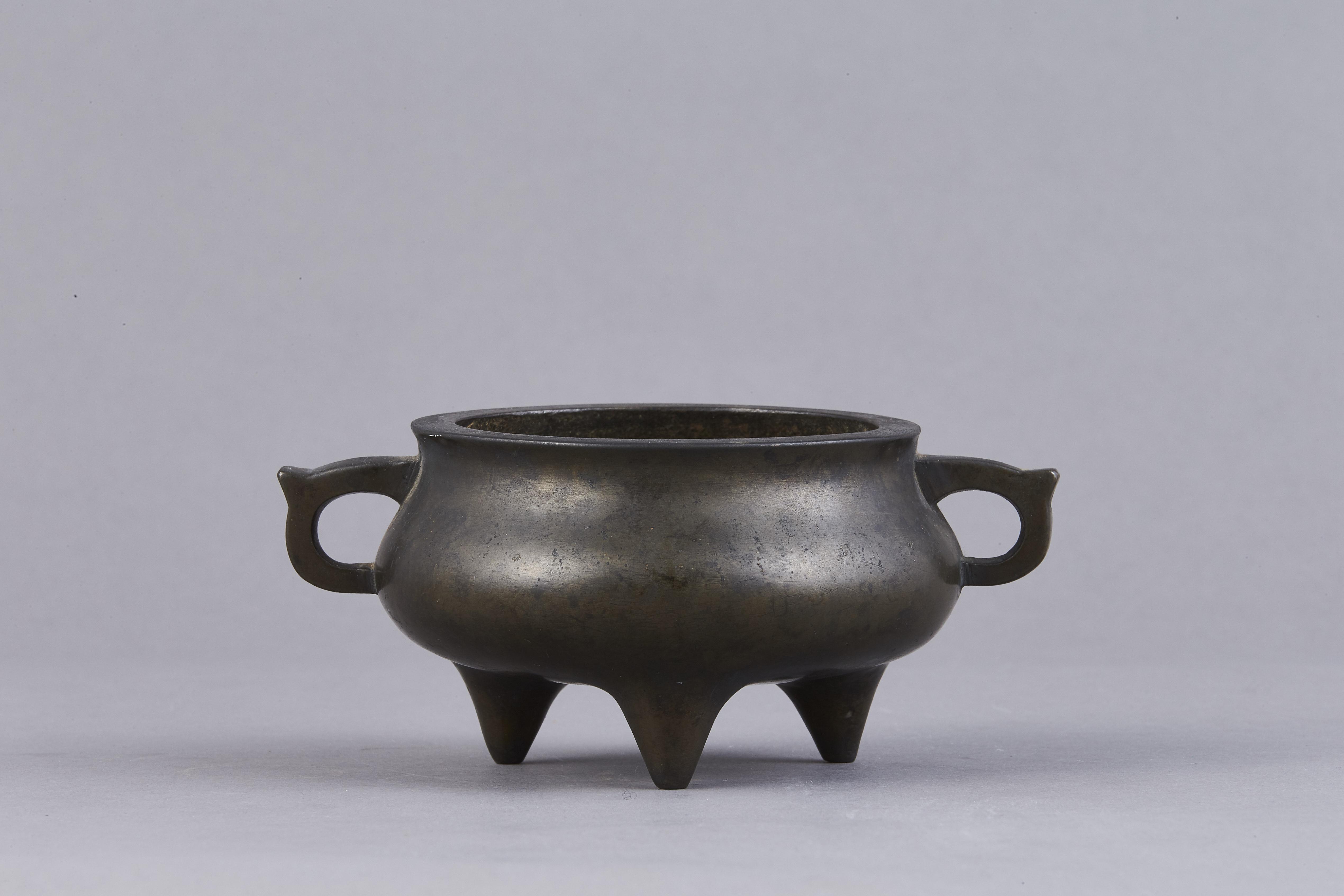 171038明末清初「宣徳」款 銅 押経爐
