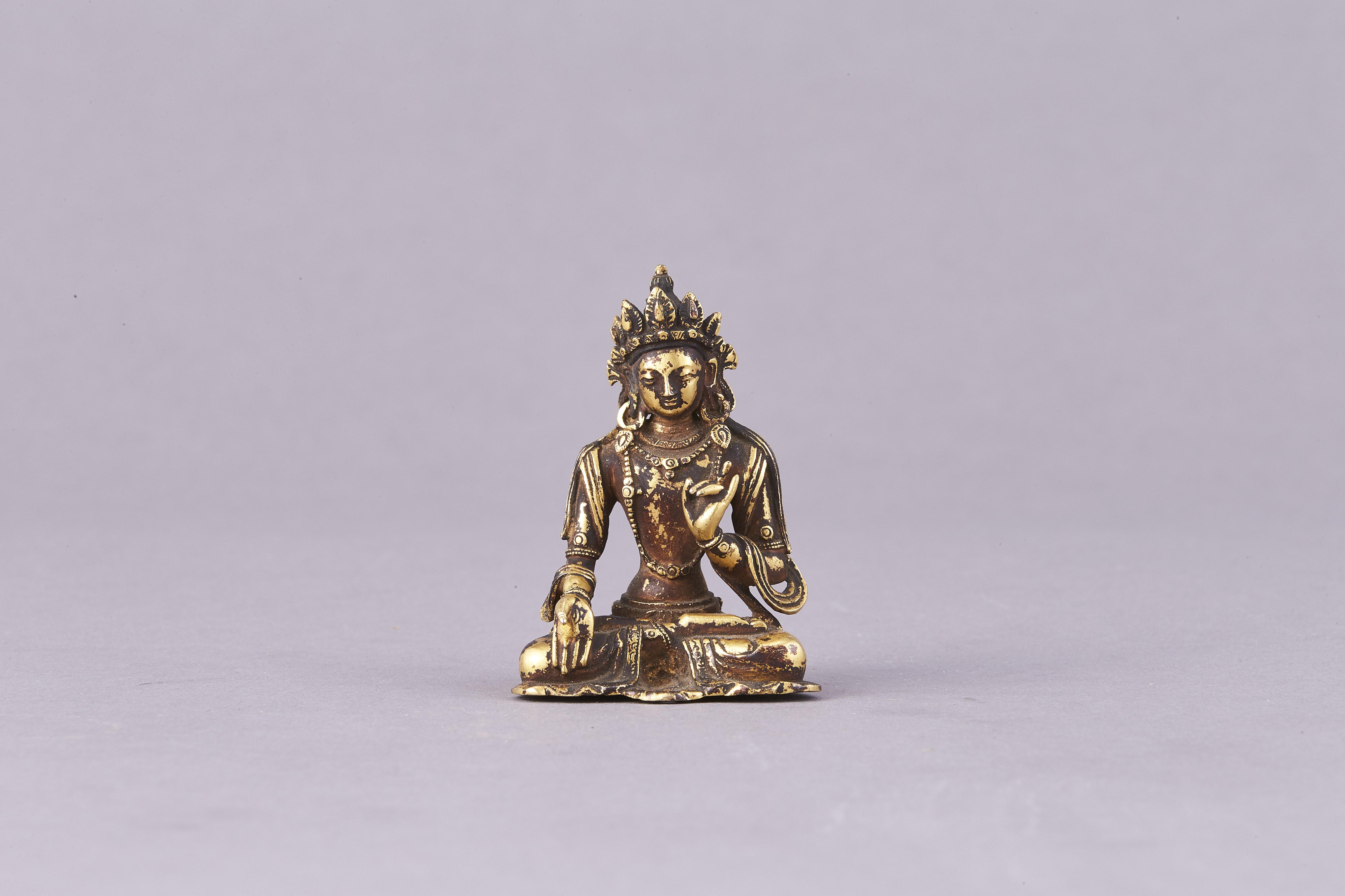 171065清十七/十八 銅鎏金 菩薩坐像