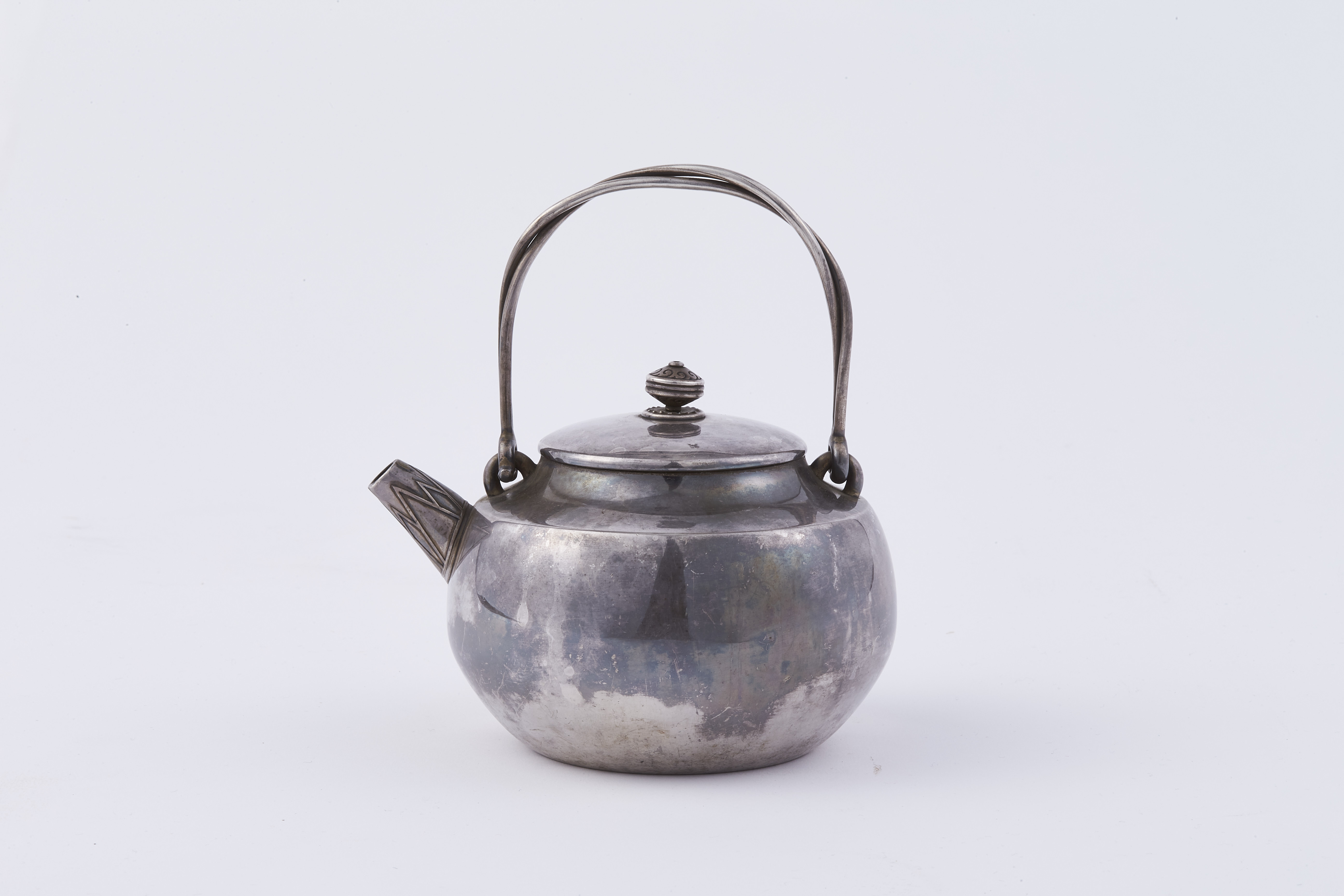171155「二世蔵六」造 純銀 單従盉式 湯沸 471g