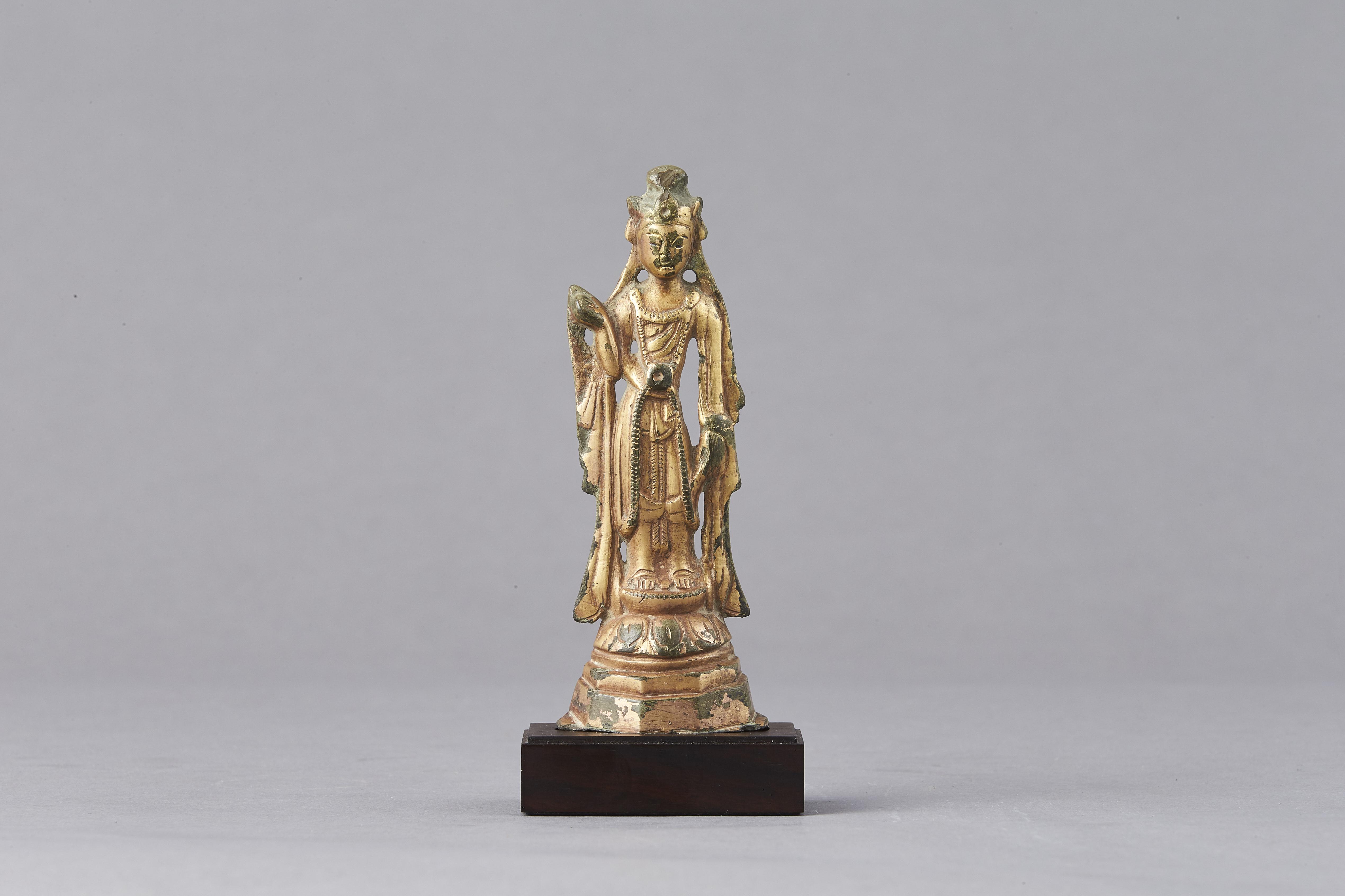 171188隋 青銅 鎏金 菩薩立像