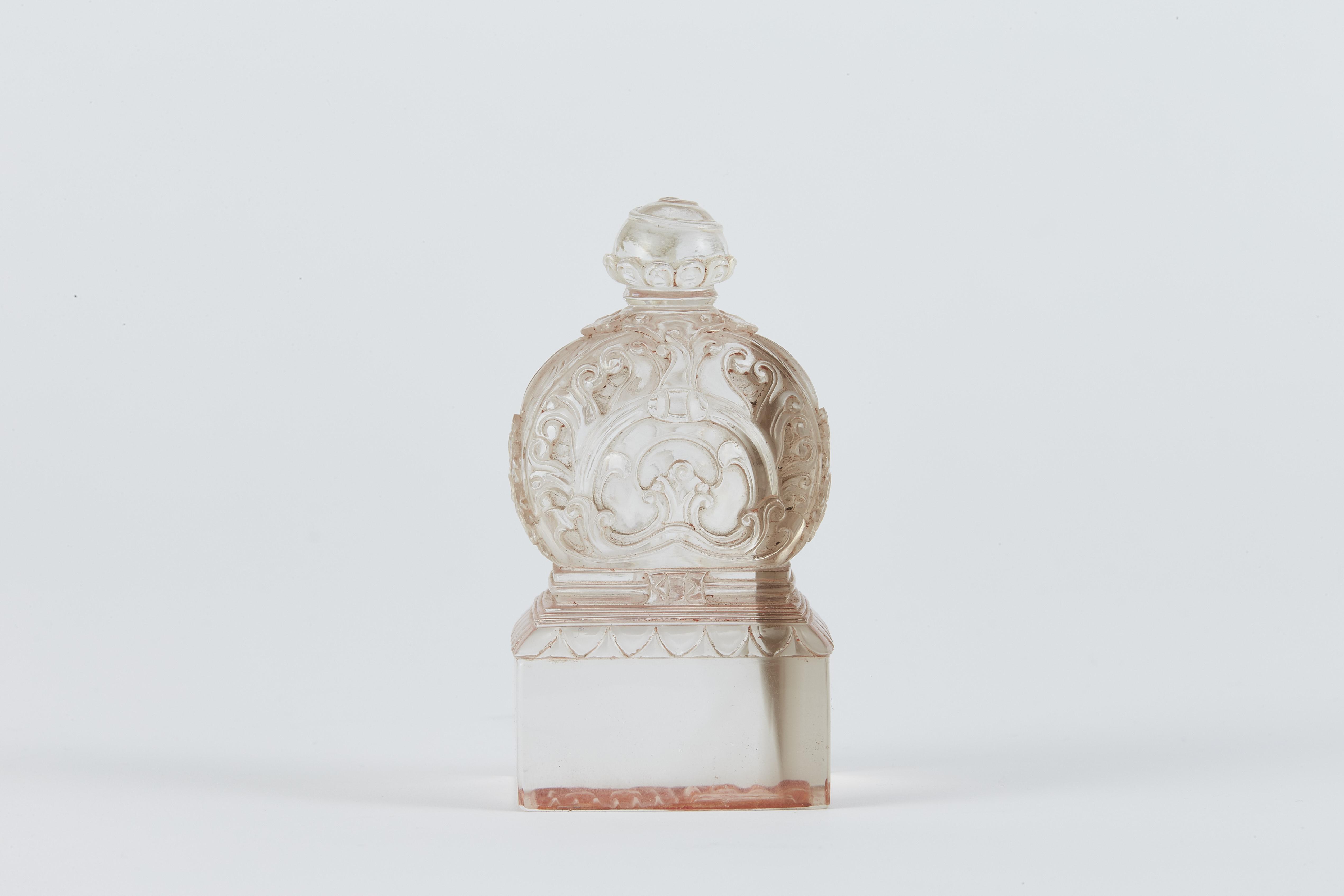 171240清 水晶雕 寶塔鈕 方印