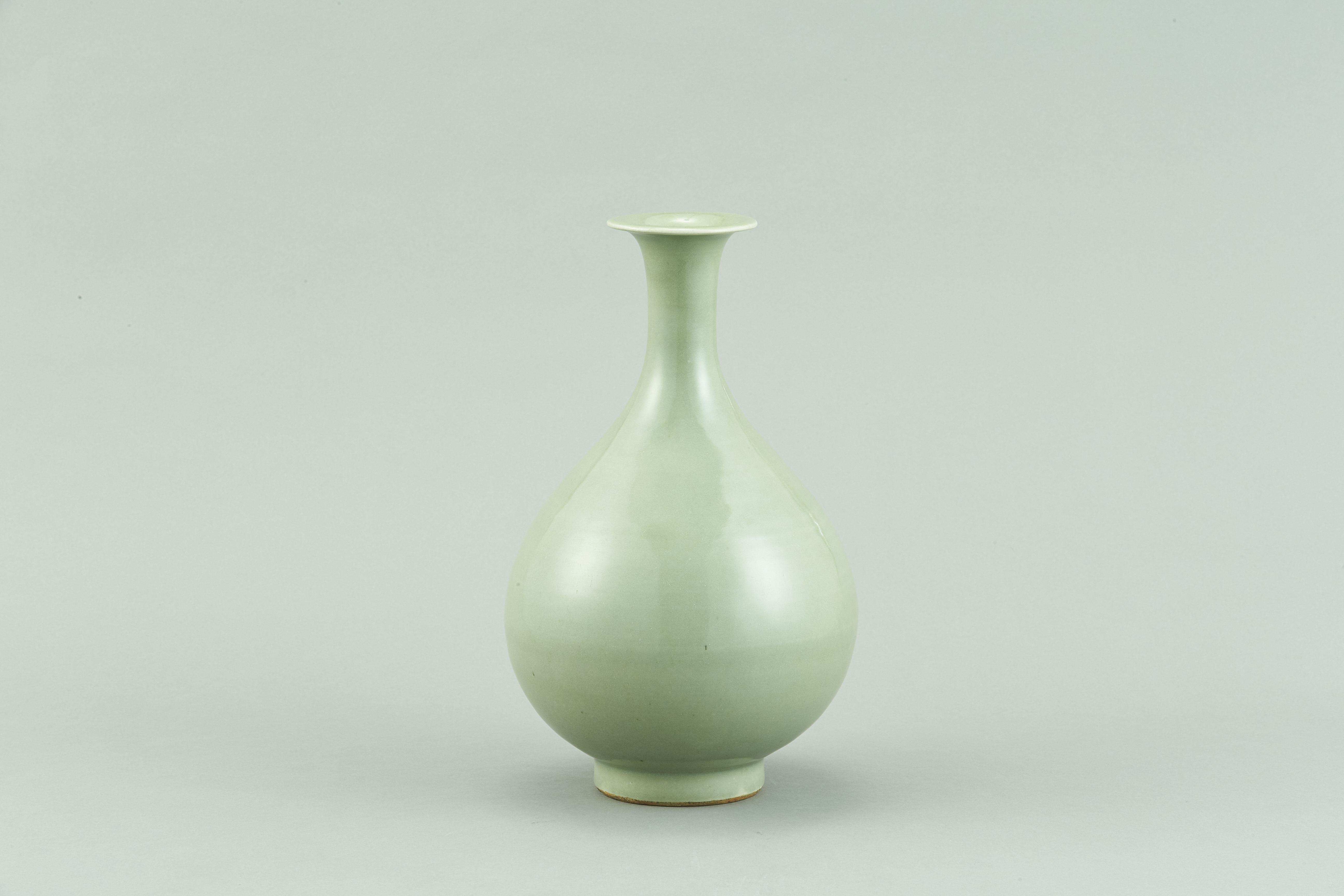 171323明初 龍泉窯 玉壺春瓶