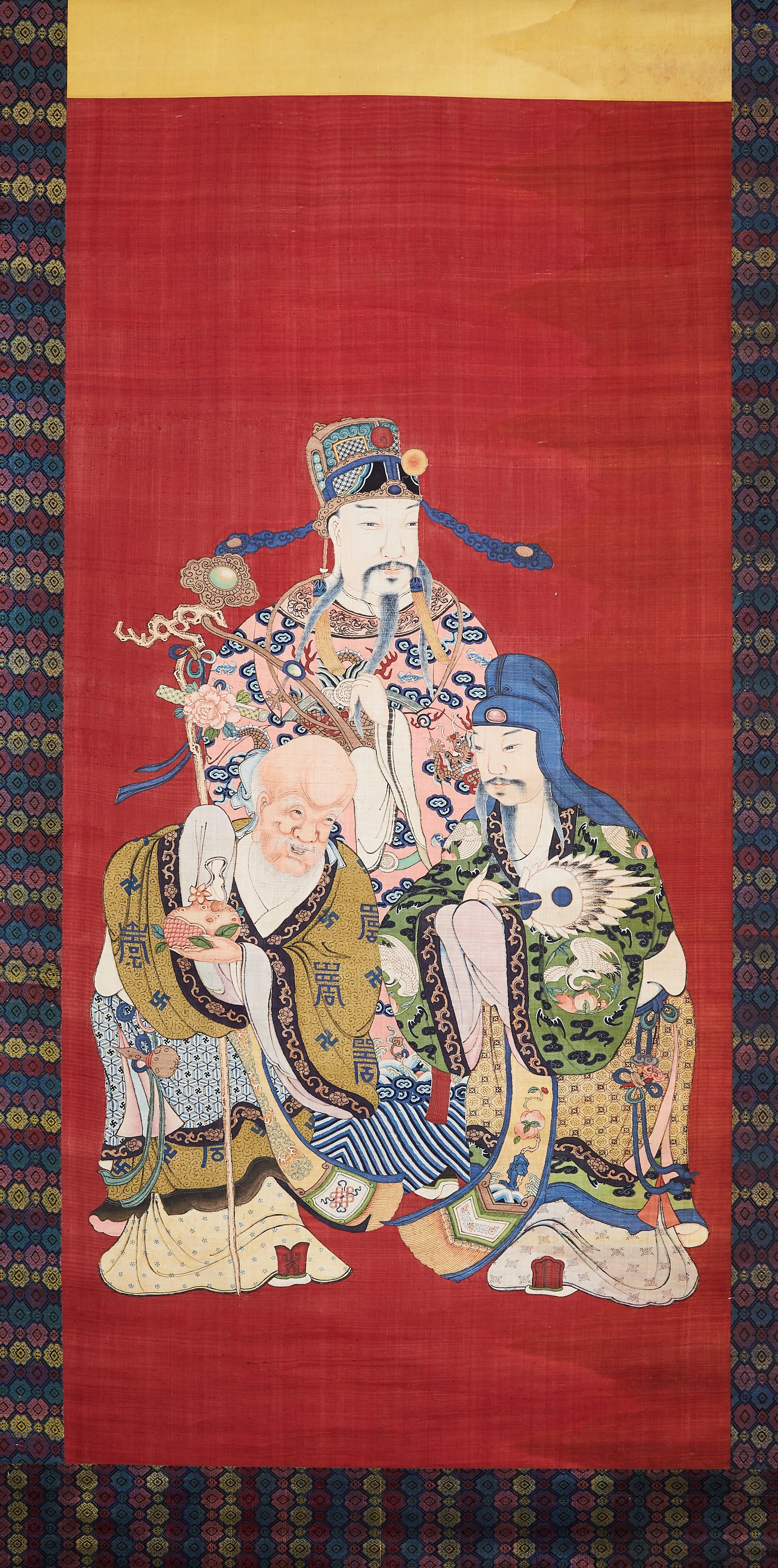 171324清中期 緙絲 人物紋 軸184×89cm