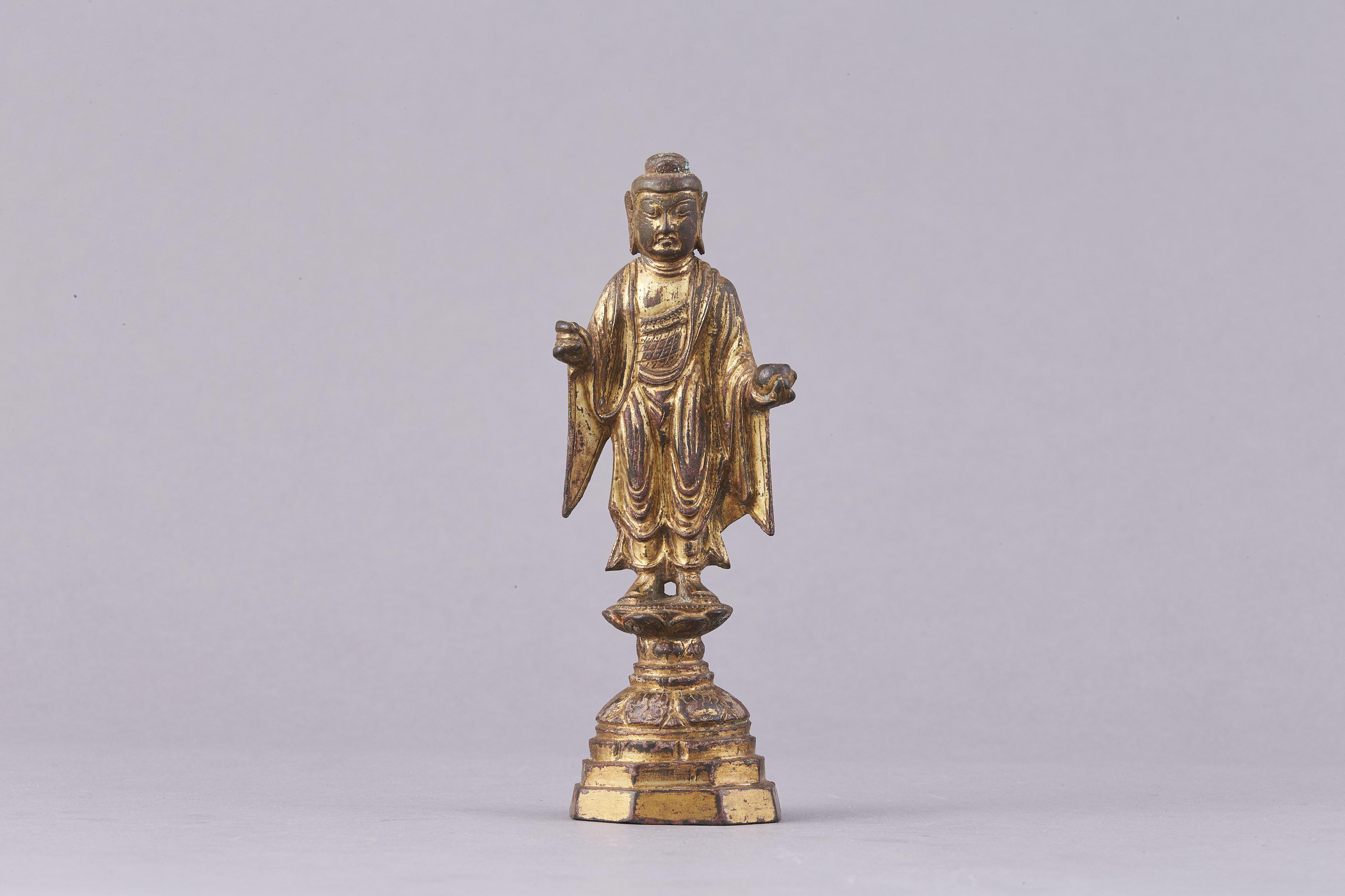171327唐初 青銅鎏金 釋迦牟尼