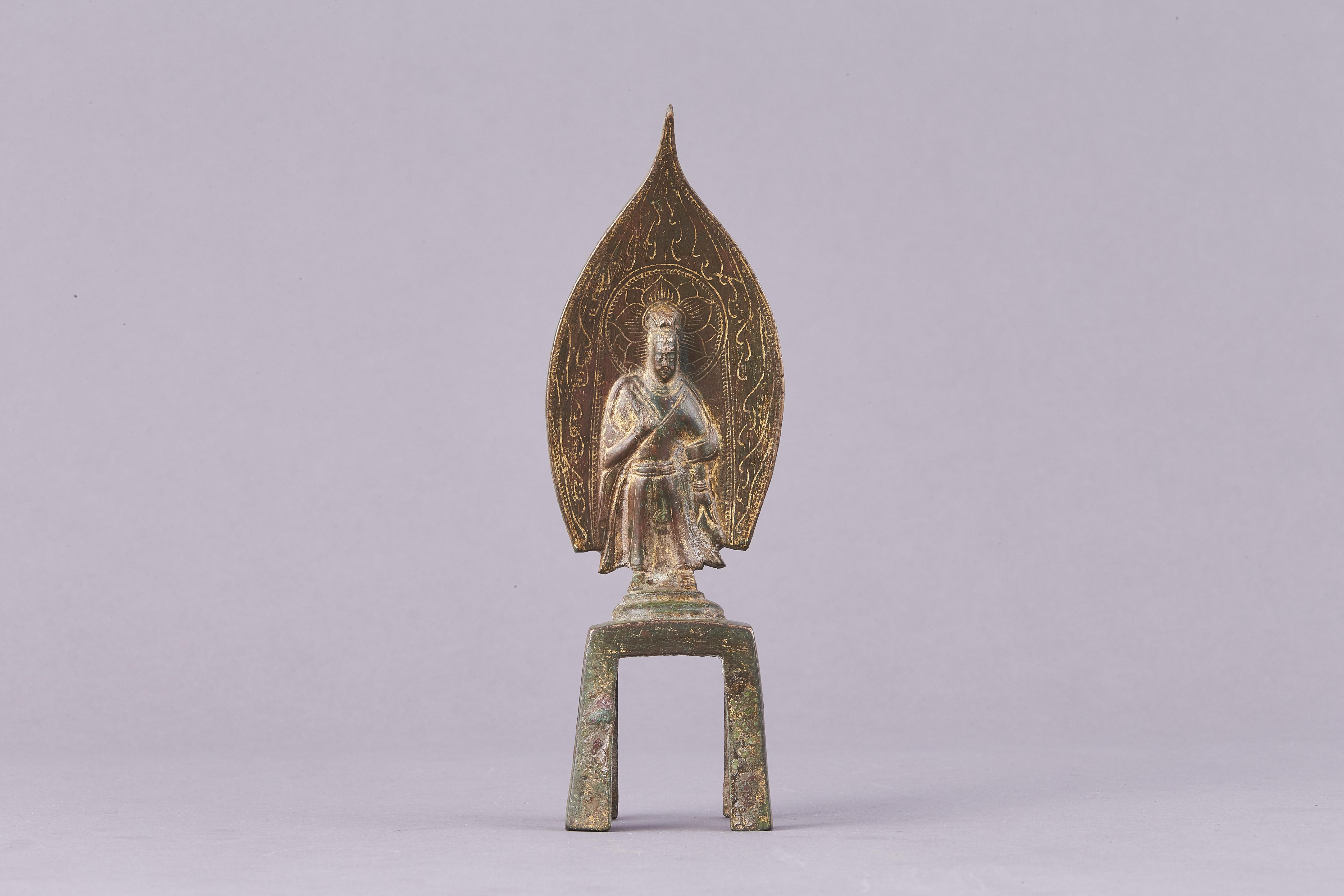 171328東魏 青銅鎏金 観音立像