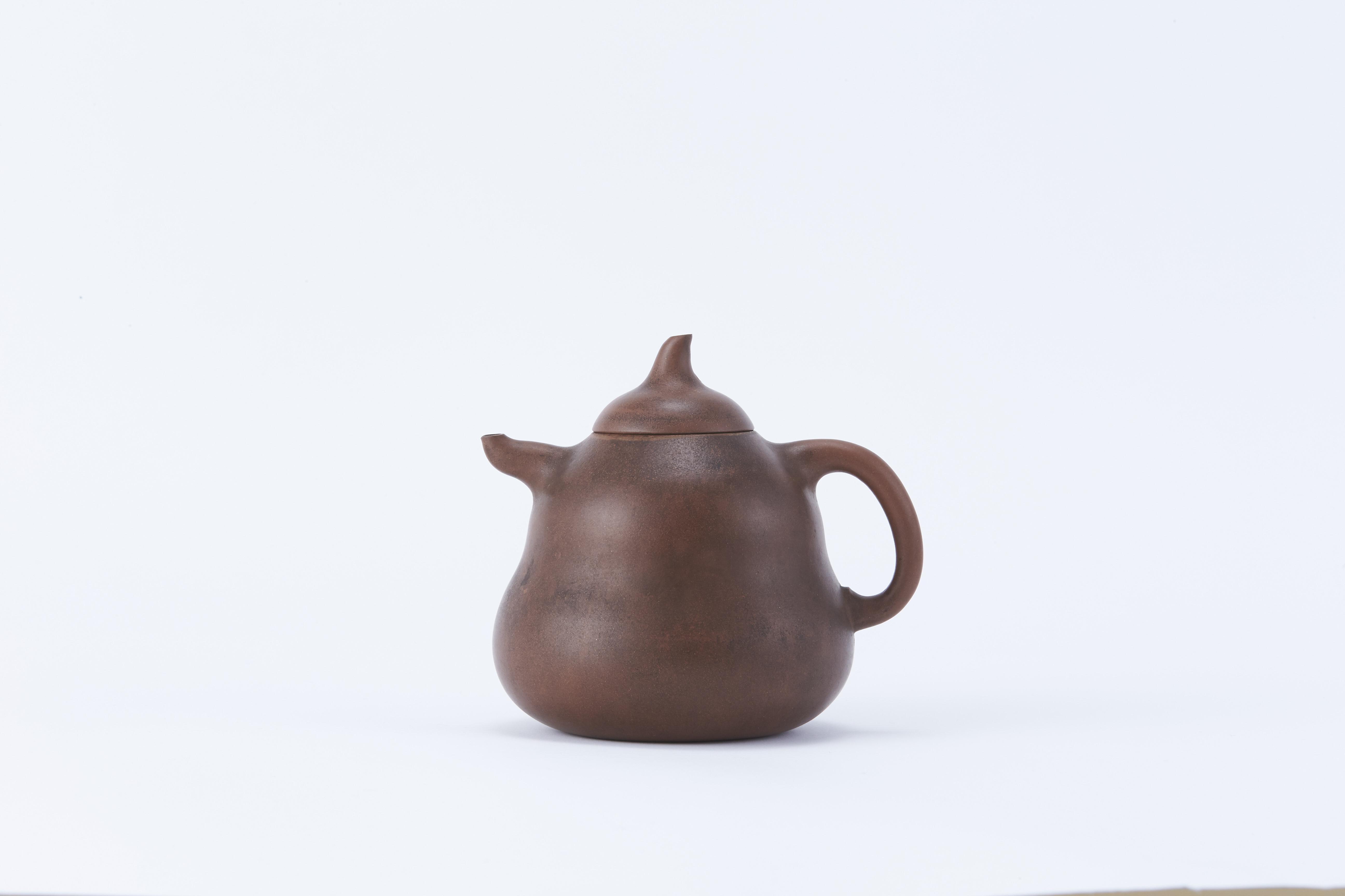 171428清「陳用郷」造 朱泥 葫蘆形 茶壺