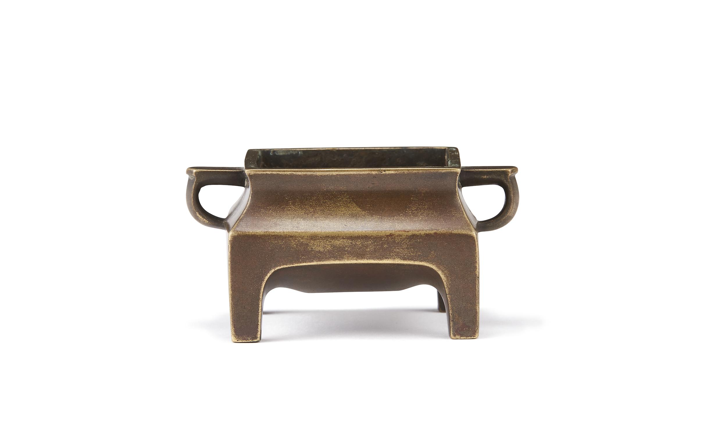 170043清早期「宣徳年製」銅 台几式 爐