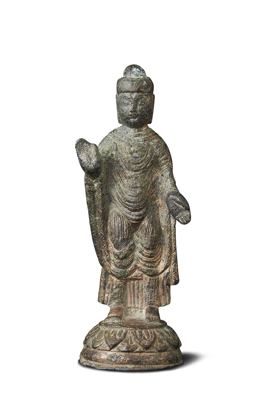 170576北魏 青銅鎏金 菩薩立像