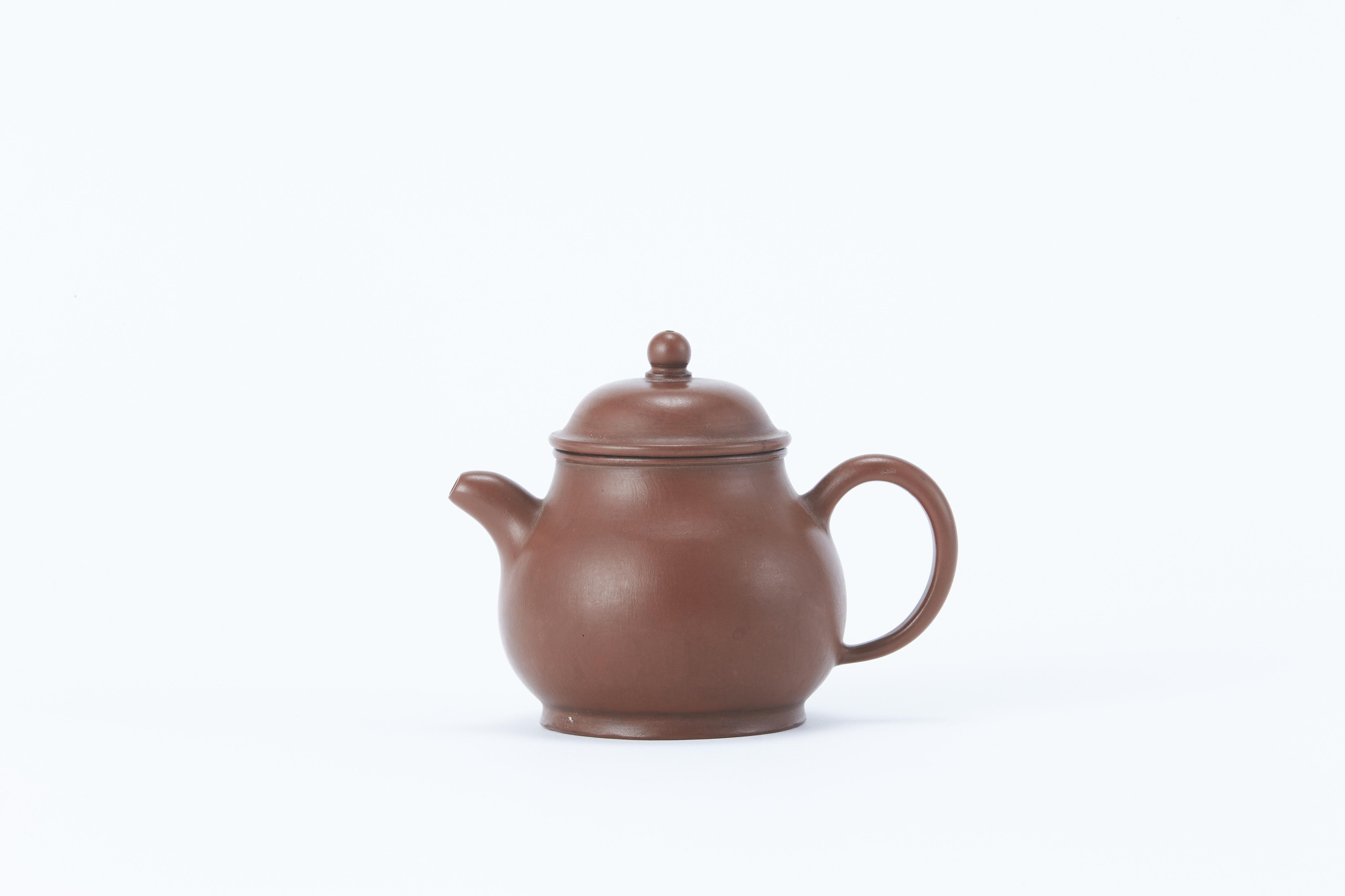 170762清「金波初泛彩逸公」款 紫泥 茶壺