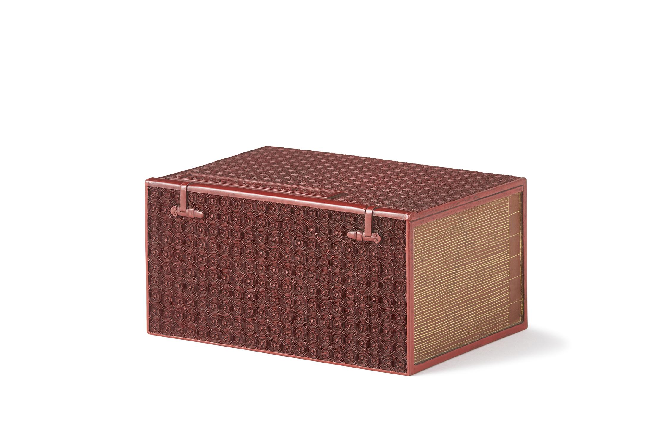 170932清中期 剔紅雕 太平廣記形 蓋盒