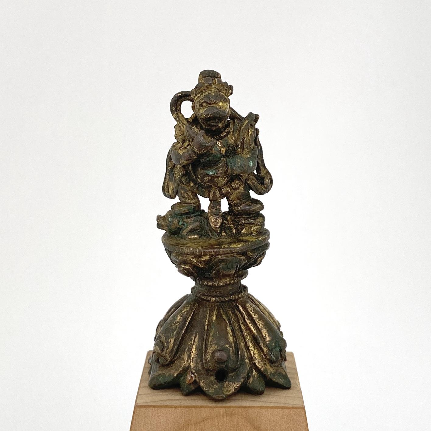10013十四/十五世紀 銅鎏金 財寶天