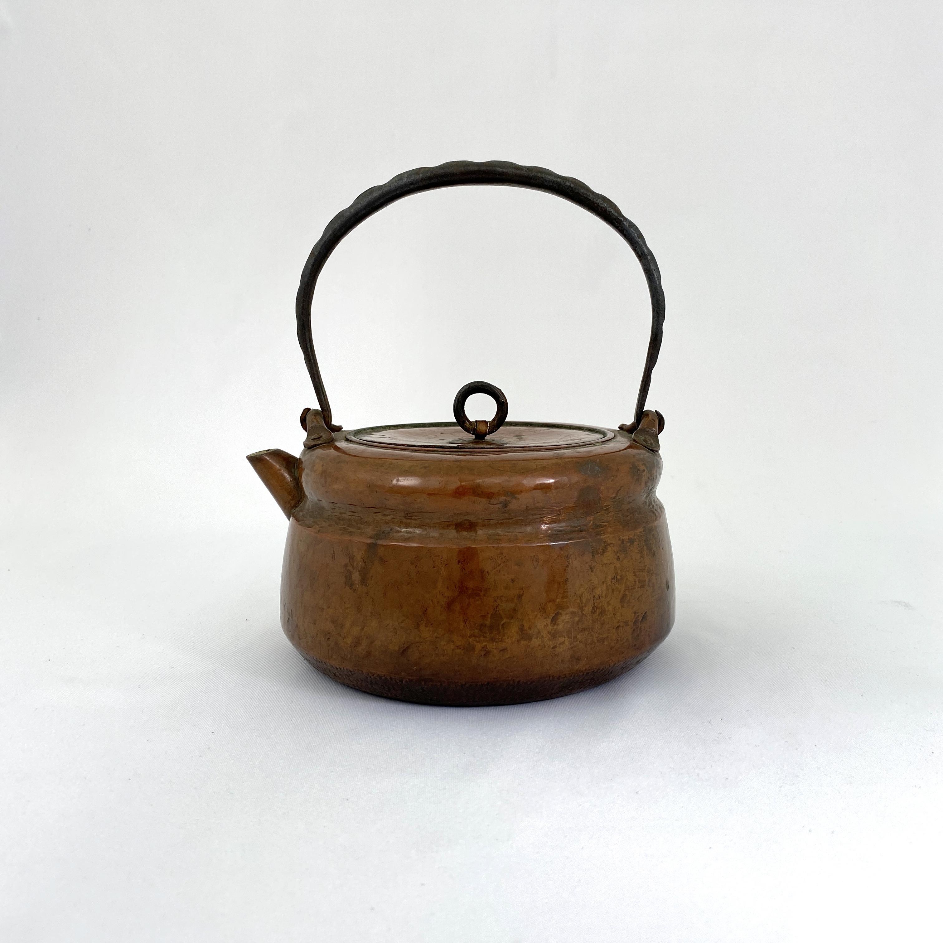 10163真鍋系 銅一塊打出鉄手 湯沸
