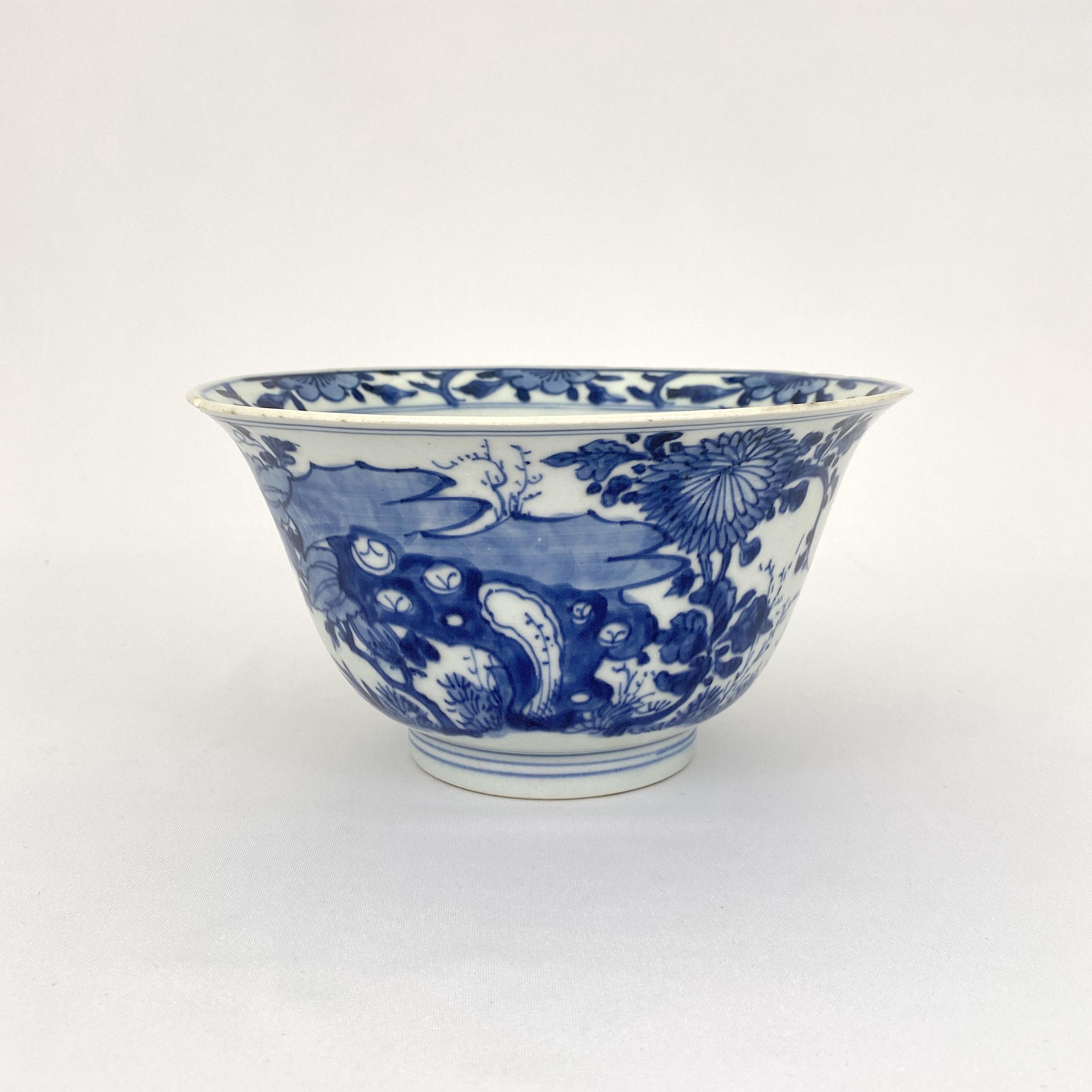 10174清康煕「裕徳堂博古製」款 青花 花図 碗