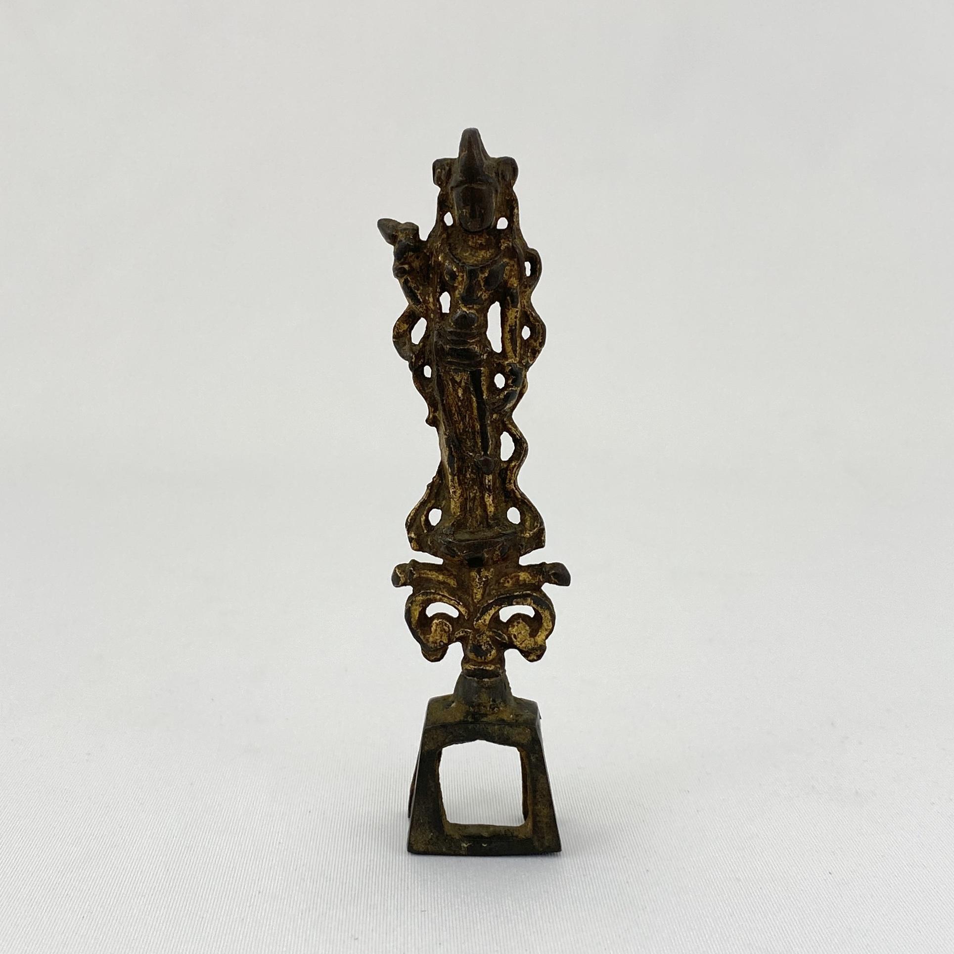 10186隋 青銅鎏金 観音立像