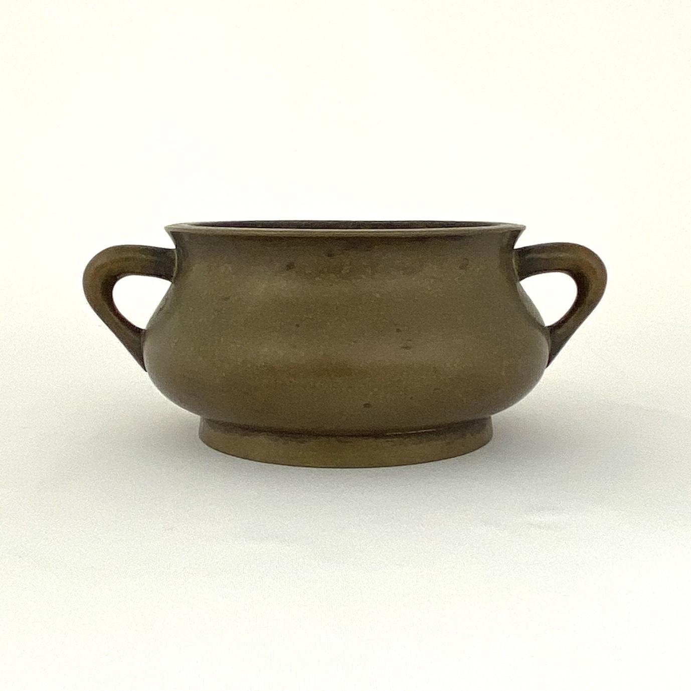 10019清早期「大明宣徳年製」款 銅 蚰耳爐