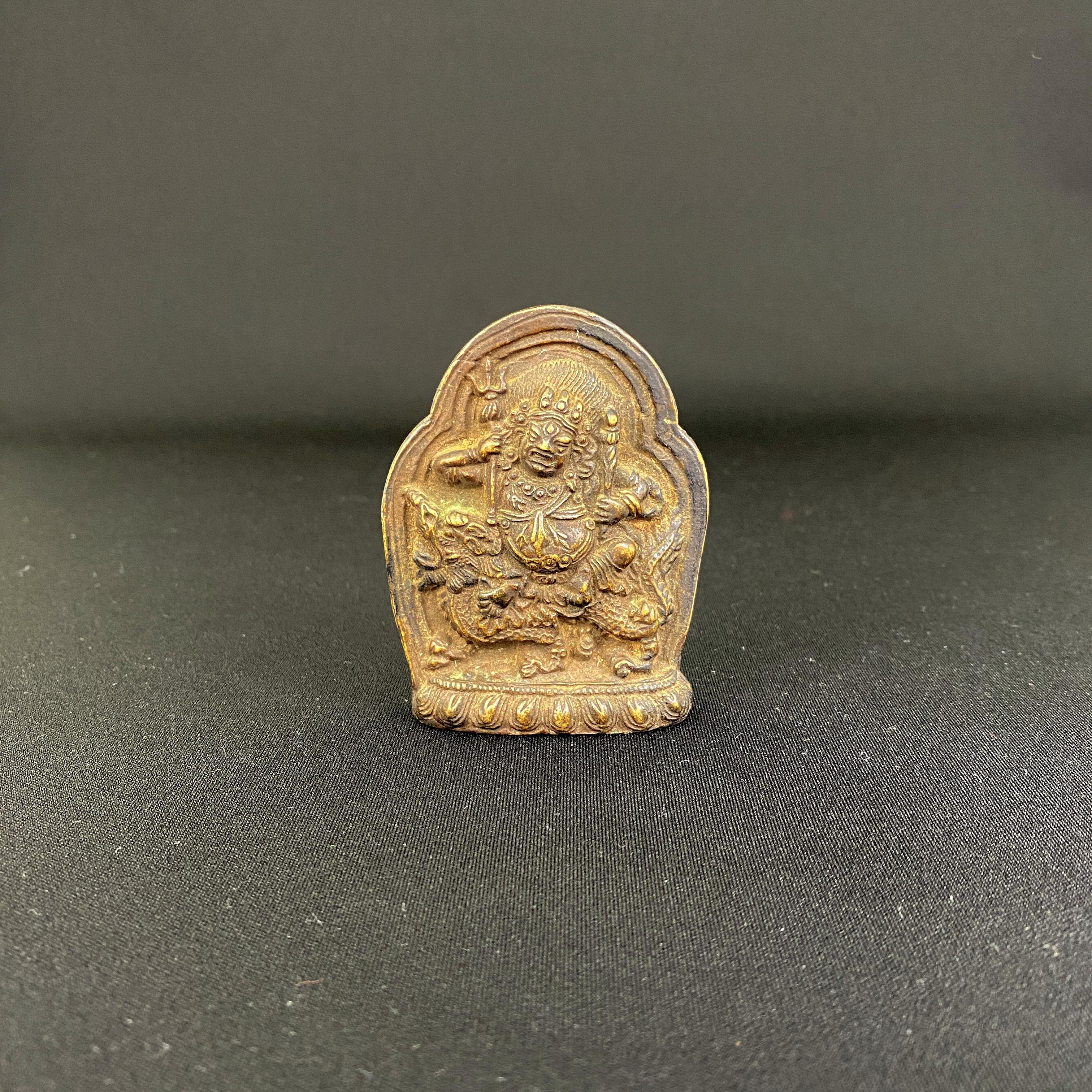 10221西蔵十六/十七世紀 銅 財寶天像