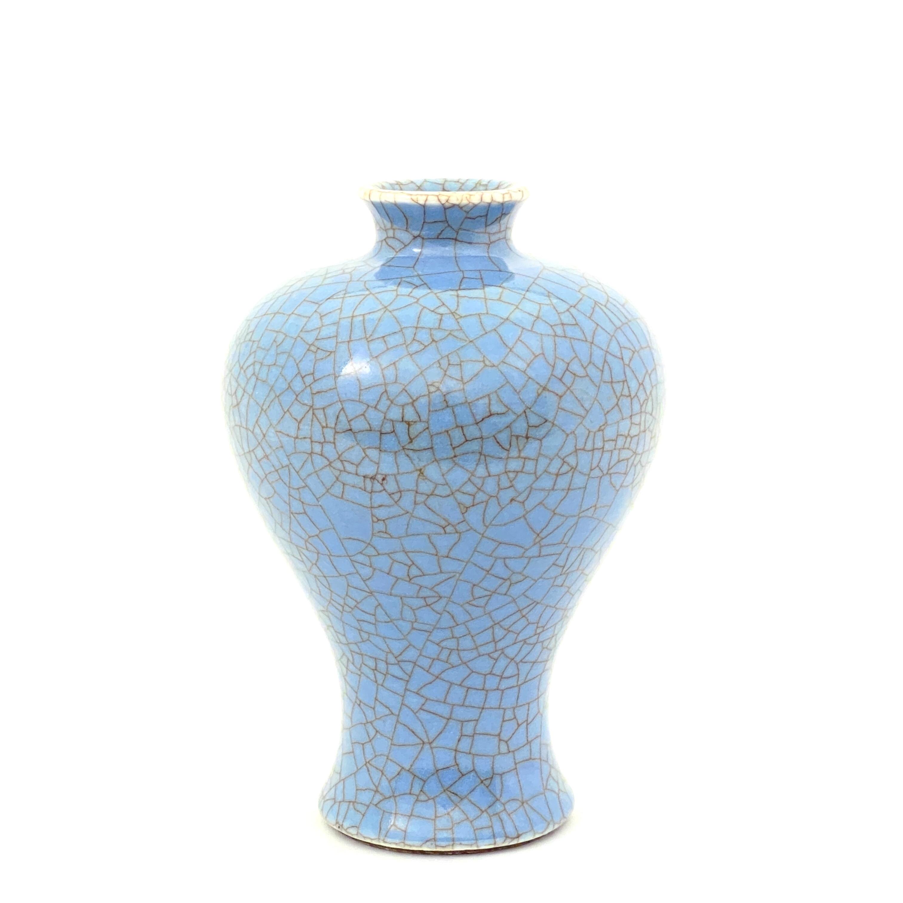 20012清中期 藍哥釉 梅瓶