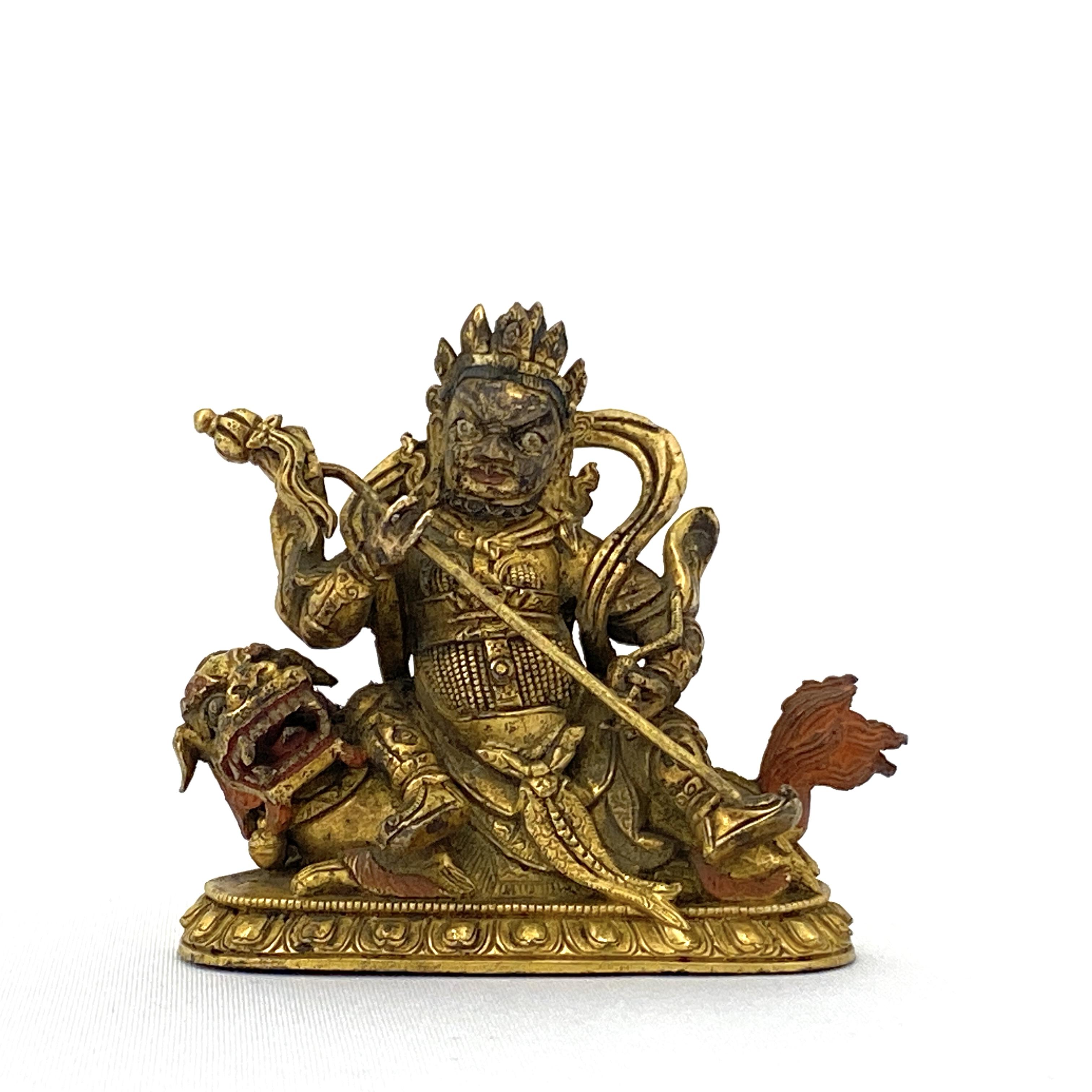 20026十七/十八世紀 銅鎏金 財寶天像