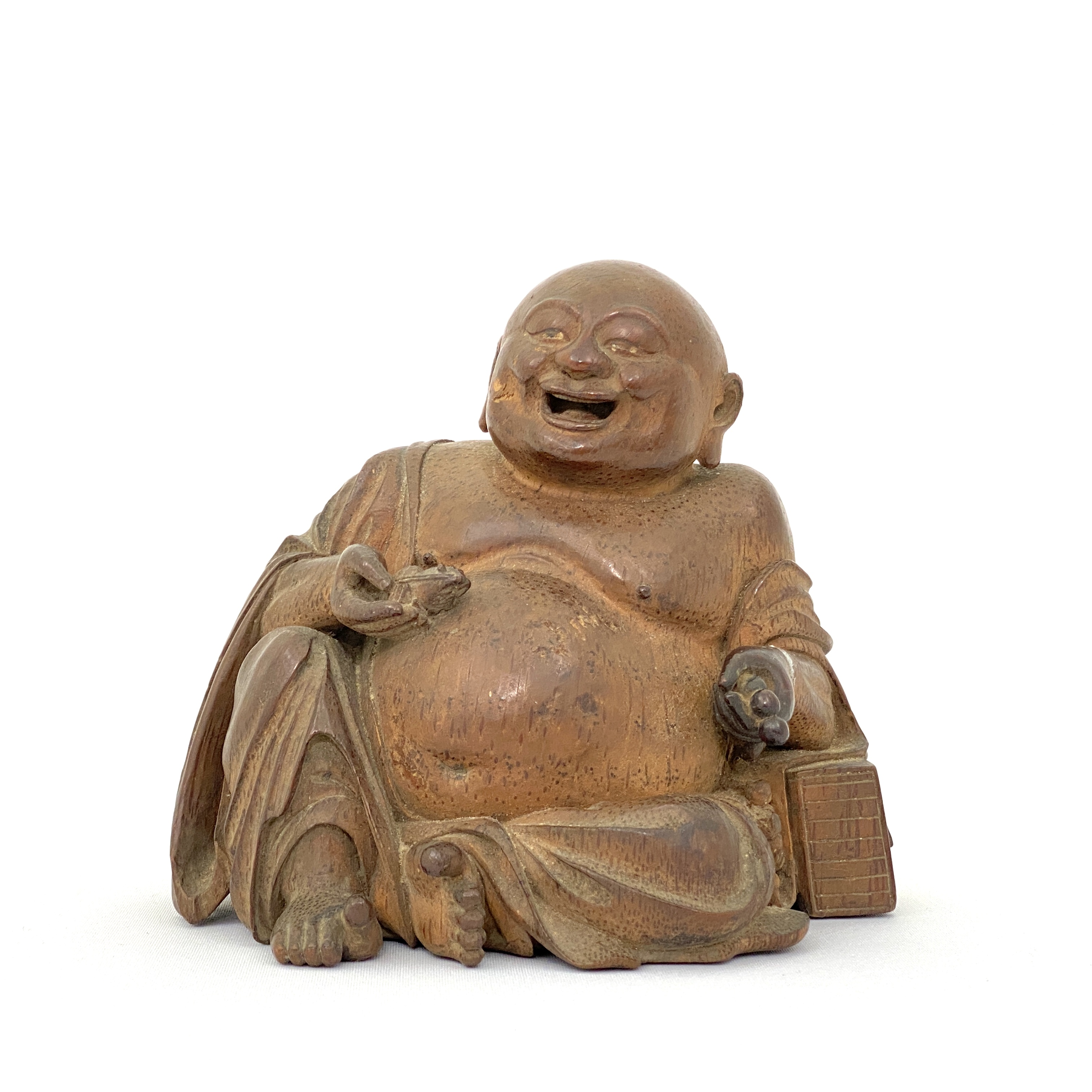 20030清早期 竹根雕 弥勒菩薩