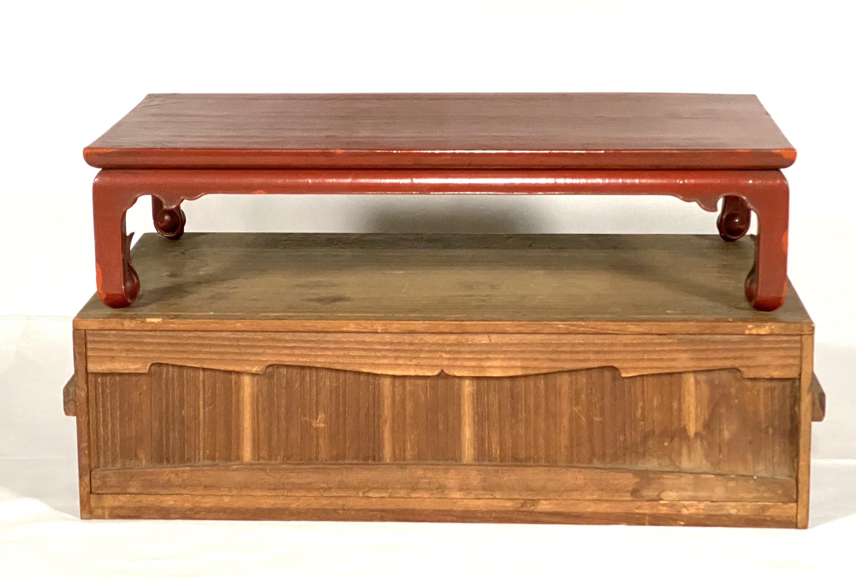 20042明 紅漆 長方桌