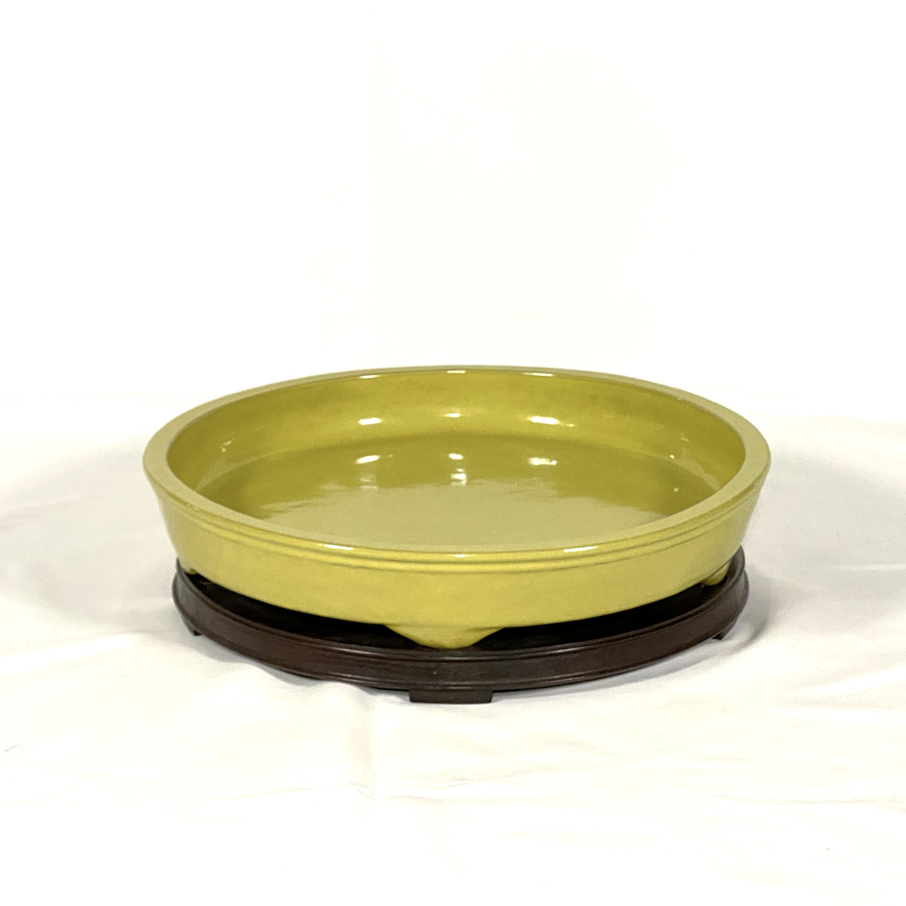 20045清 宜興黄釉 水盤