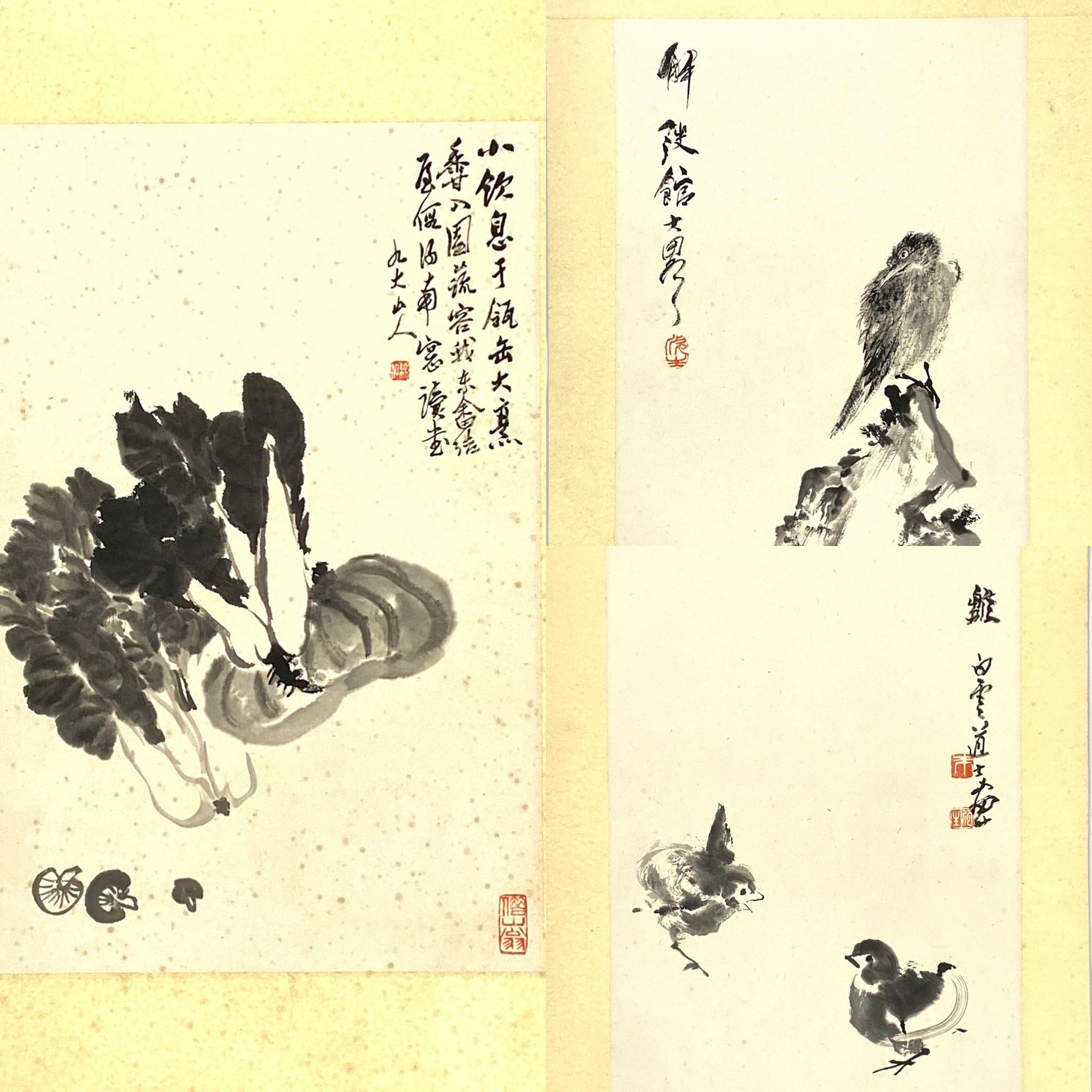 20553「沈彬如」画 蔬菜図等 計10件38.5×25cm