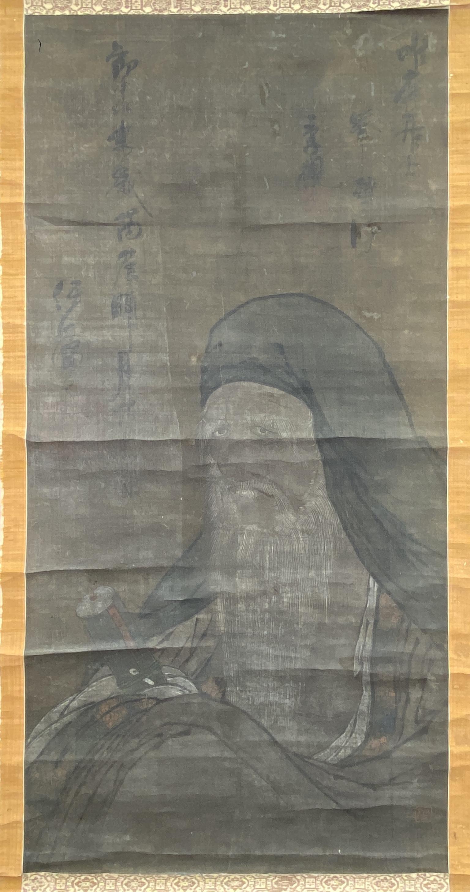 20625在銘 古画111×55cm