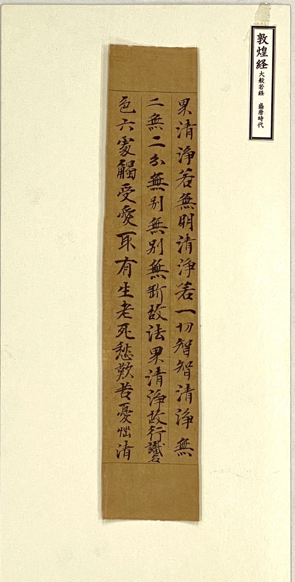 20661唐 敦煌経片25.5×5.5cm