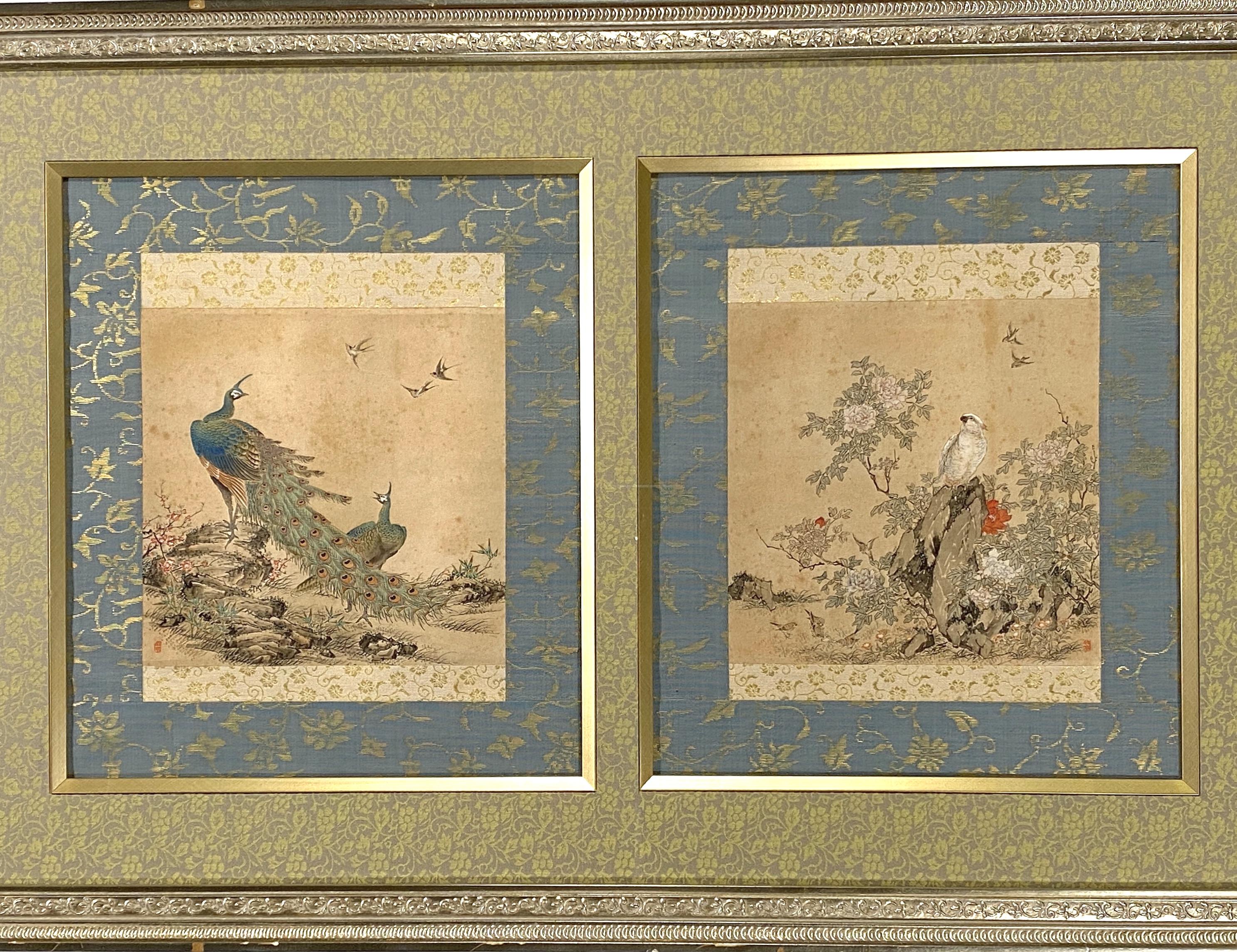20667花鳥図 額23×24cm