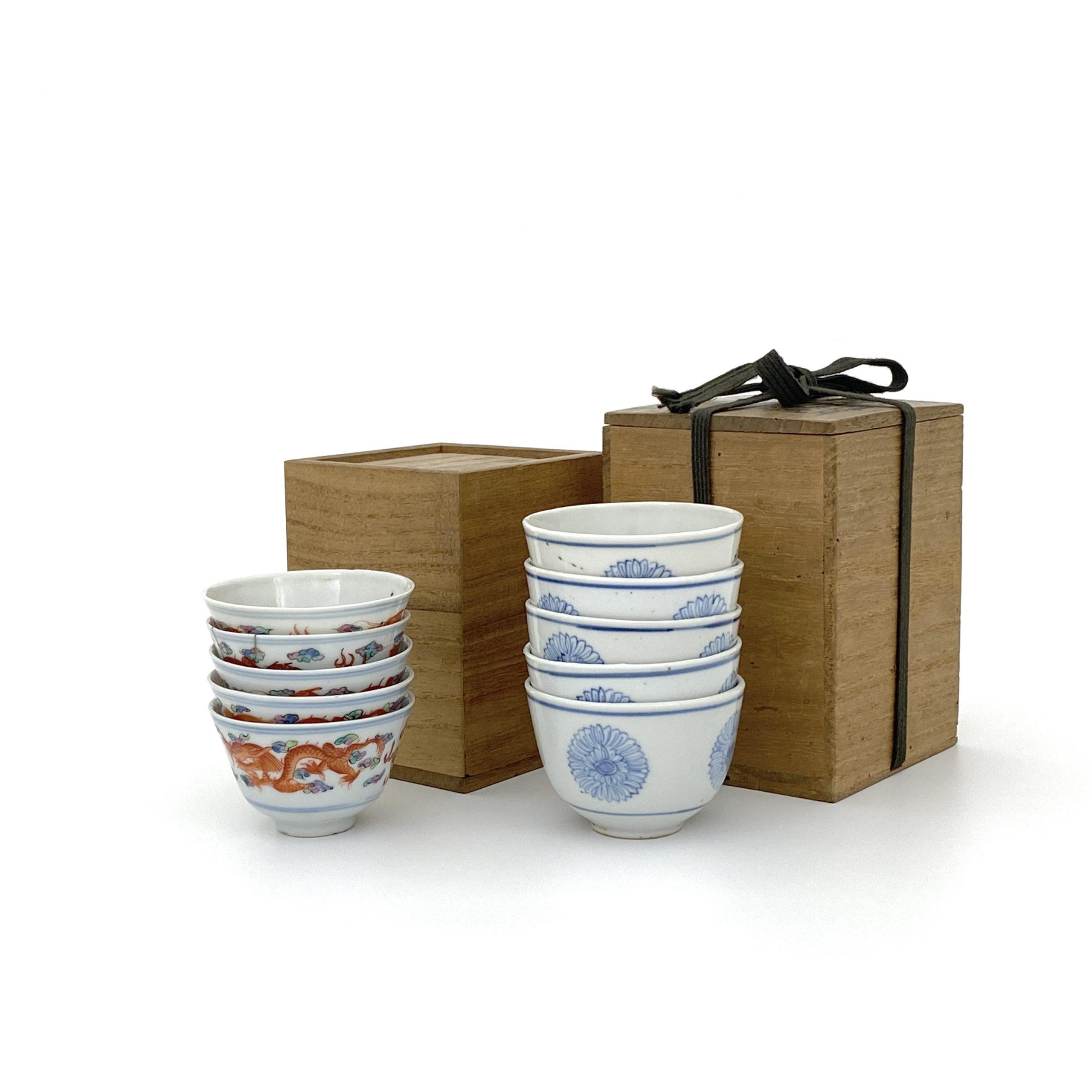 30128粉彩 龍紋 煎茶碗等 計2種