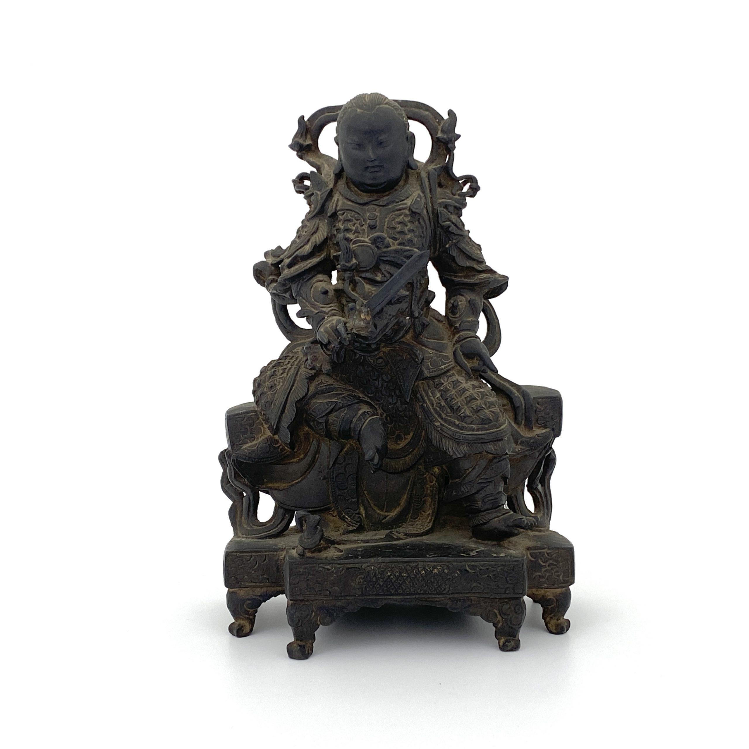 30130明 銅 武人坐像