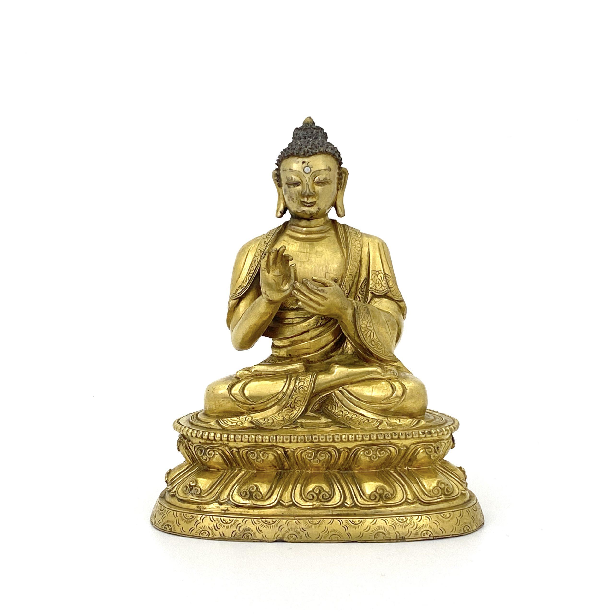 30143十七世紀 銅鎏金 釋迦牟尼