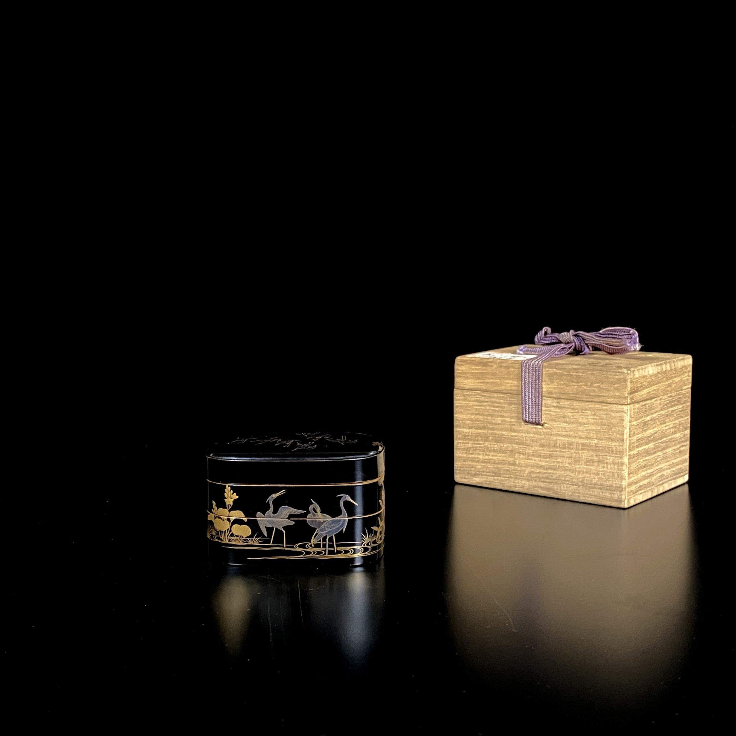 30207蒔絵 花鳥紋 二截盒