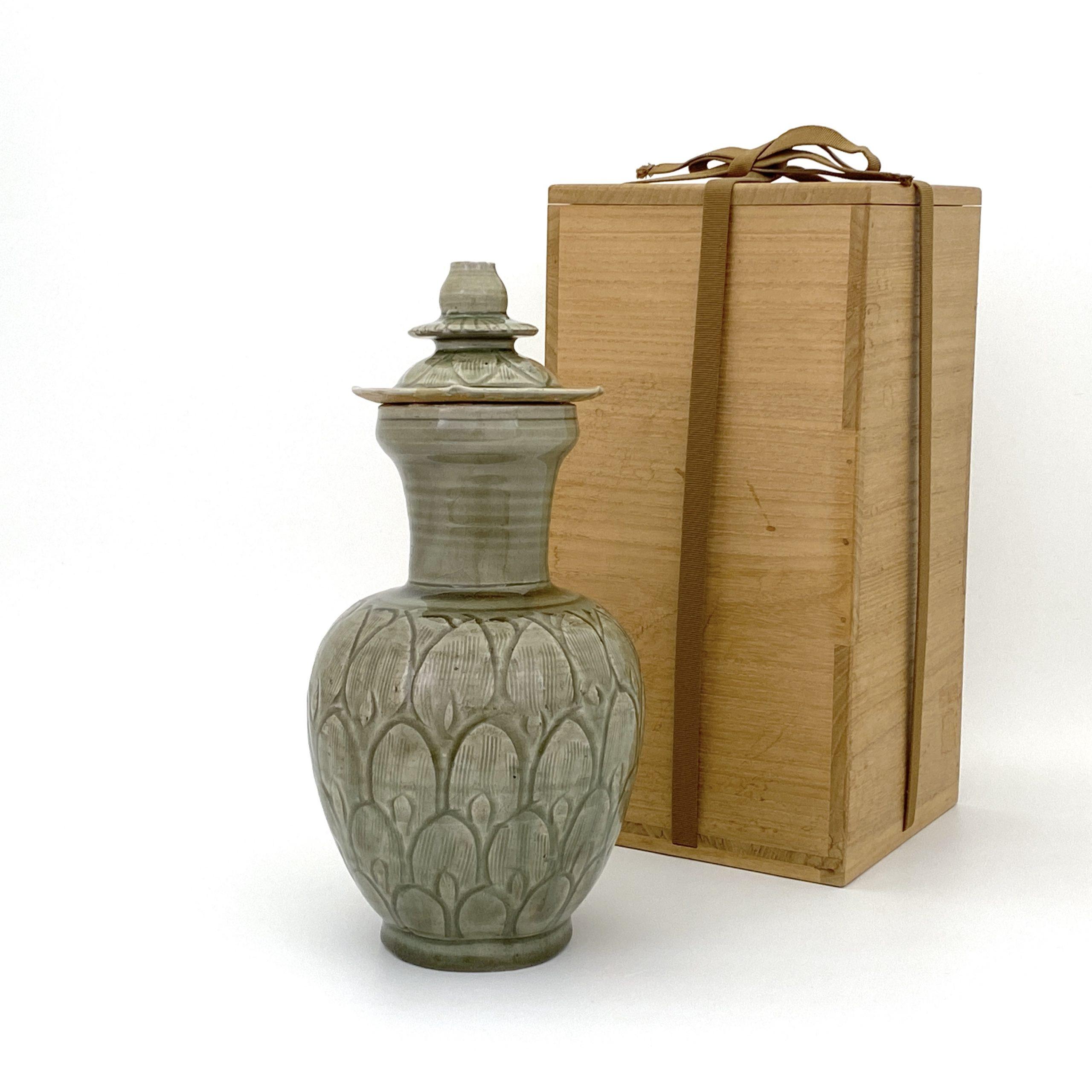 30029北宋 龍泉窯 蓋瓶