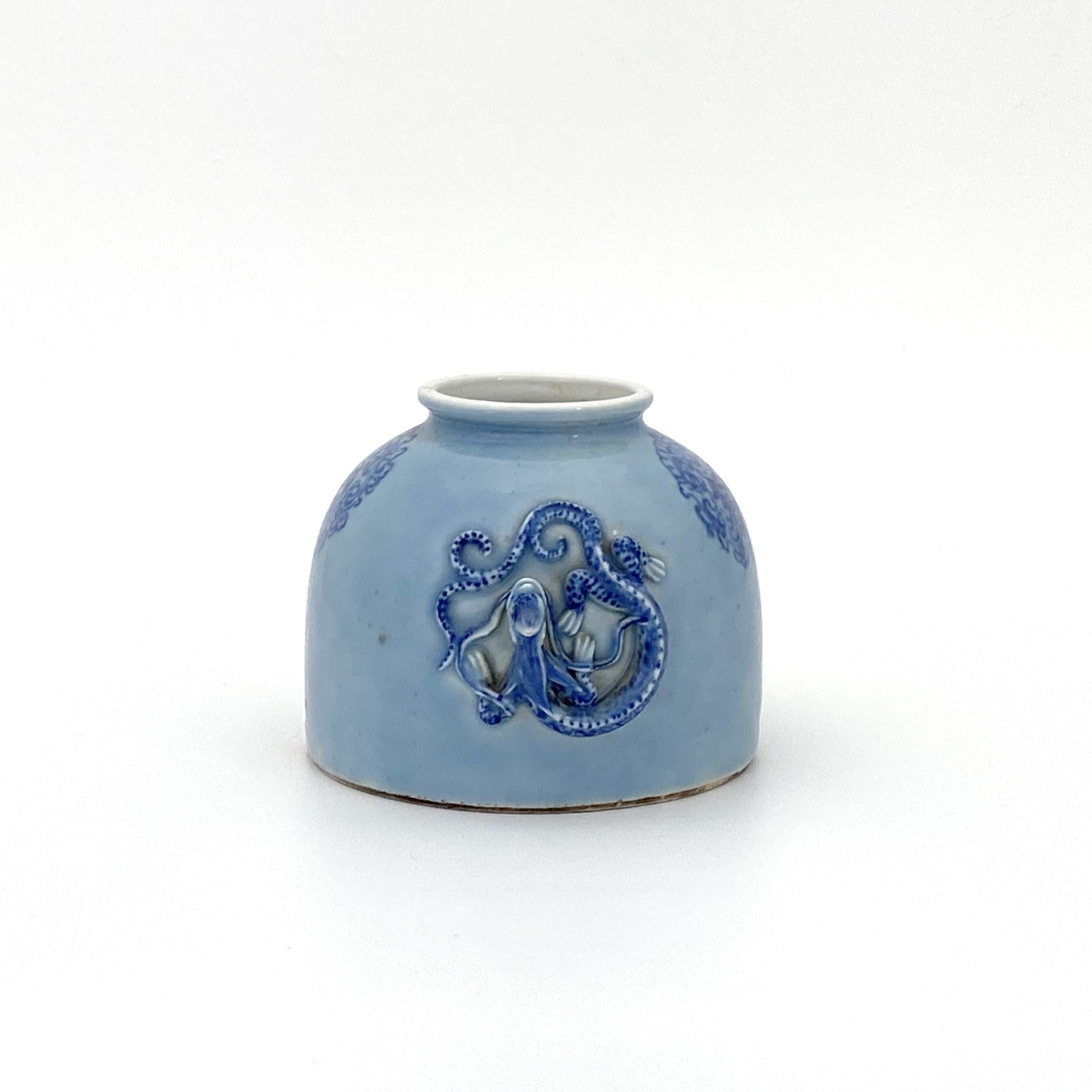 30003清「大清康煕年製」款 天青釉 蟠龍紋 太白尊