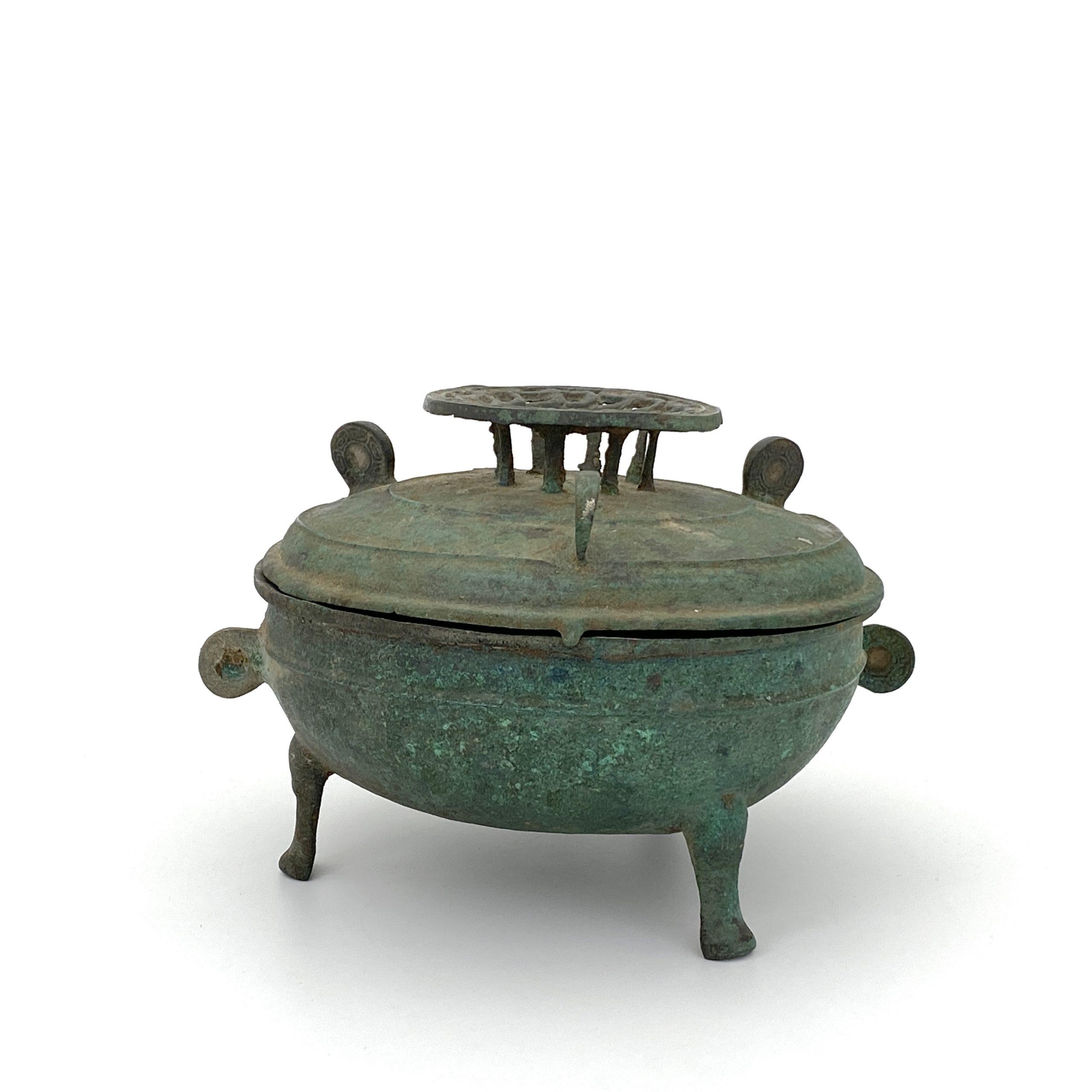 30475漢 青銅 三足蓋盒