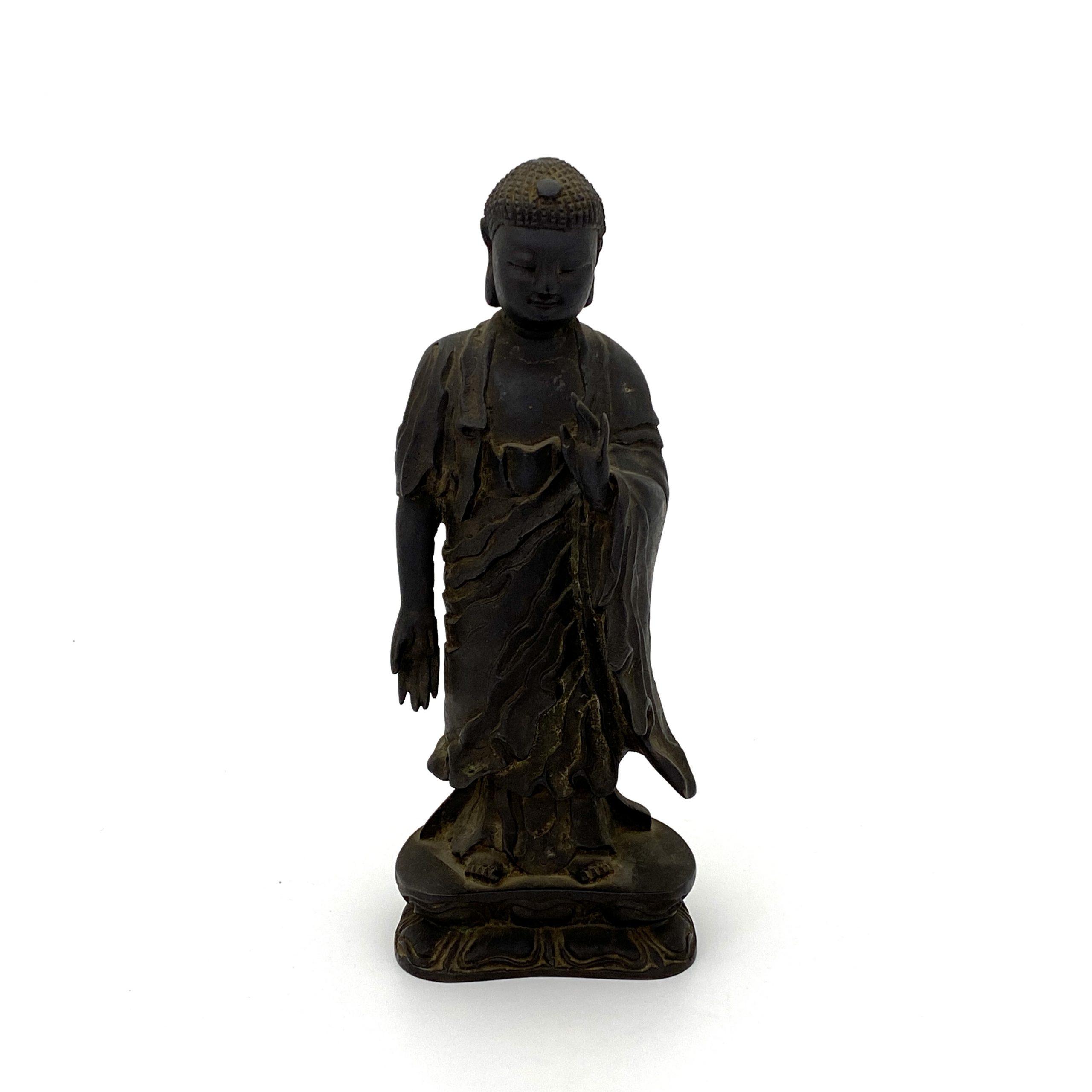 30484明末清初 銅 釋迦牟尼立像