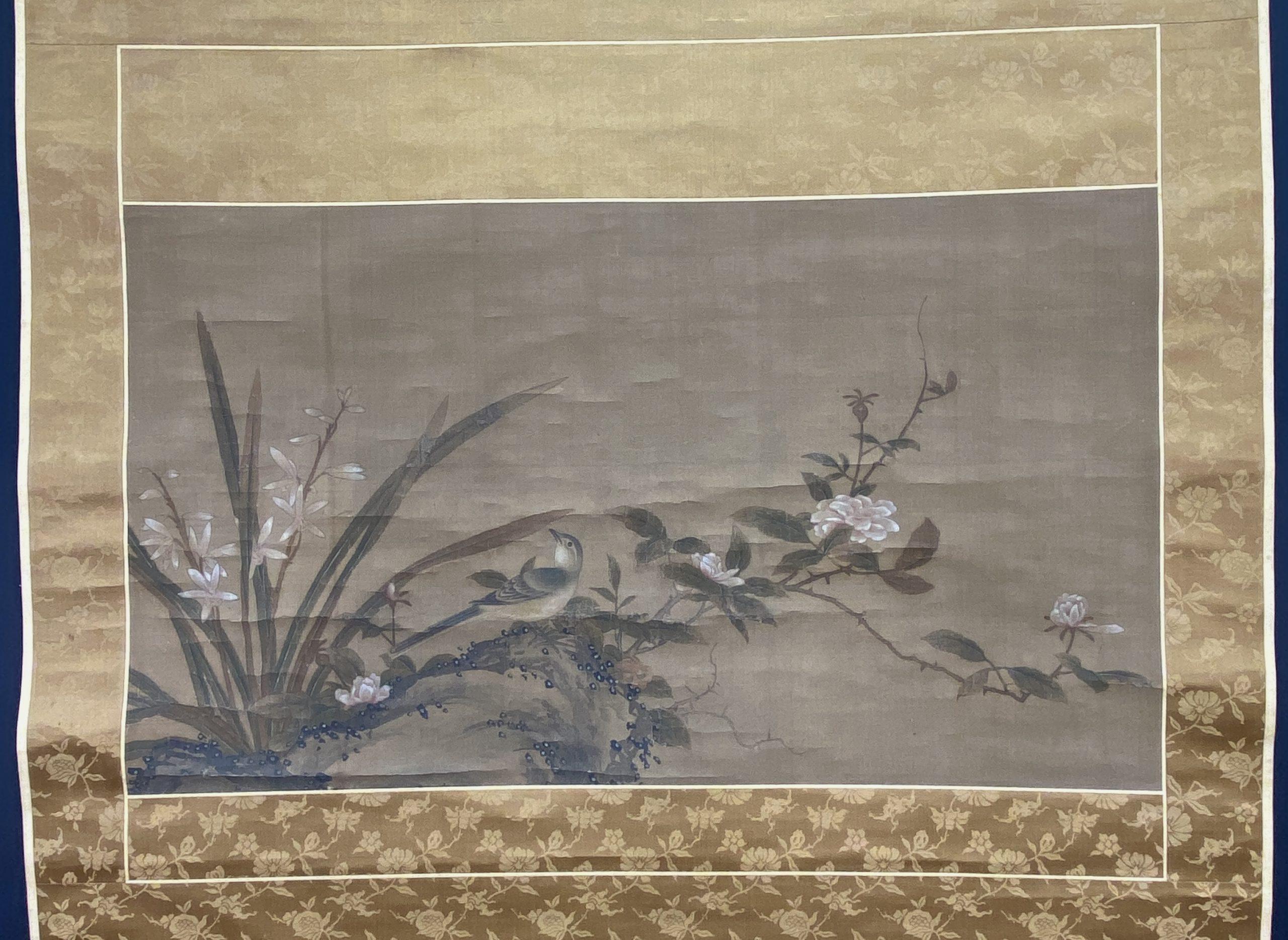 30644古画 花鳥図 軸33×57cm