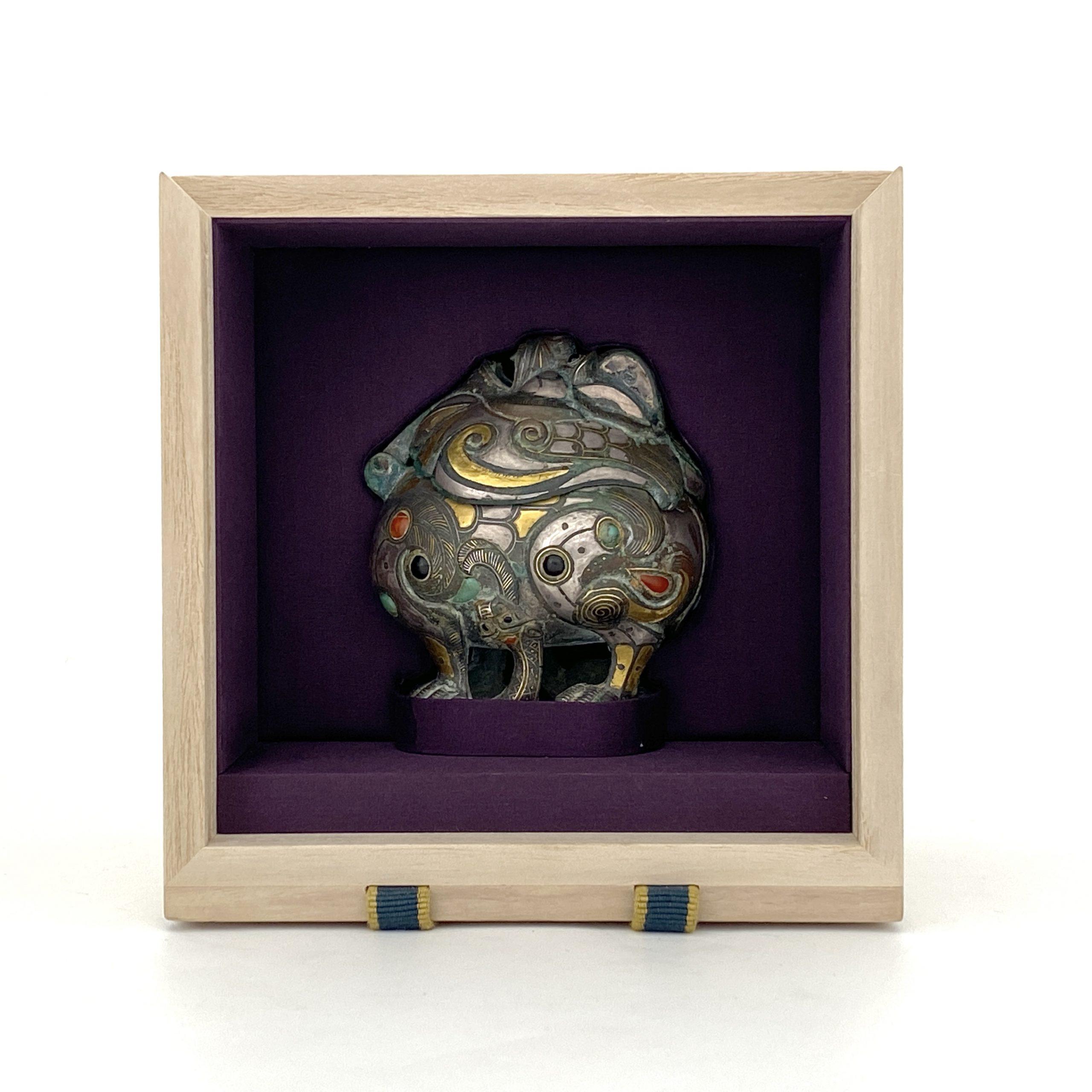 20121銅嵌百寶 獅子香爐