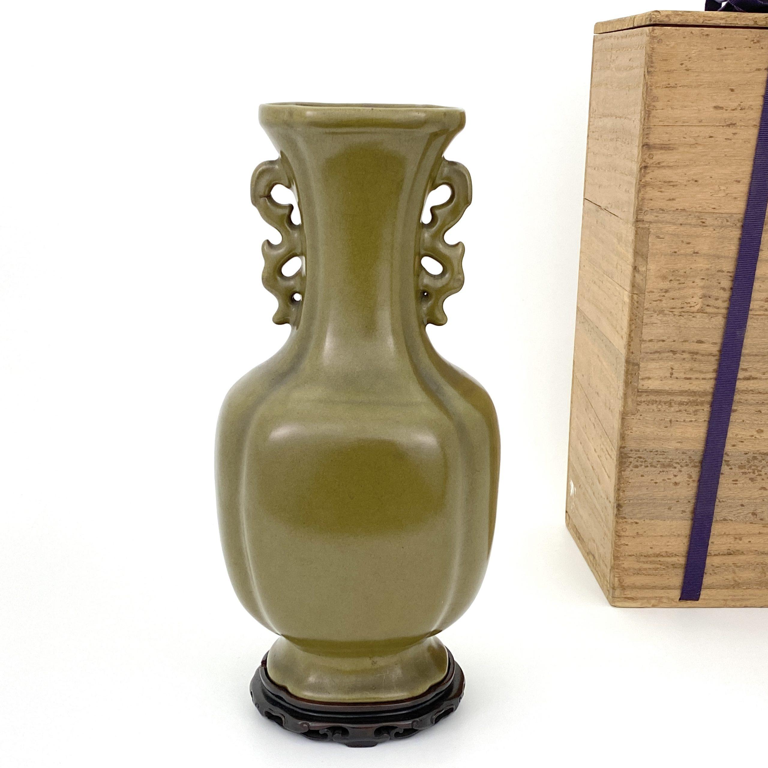 20002清 茶葉末釉 雙耳瓶