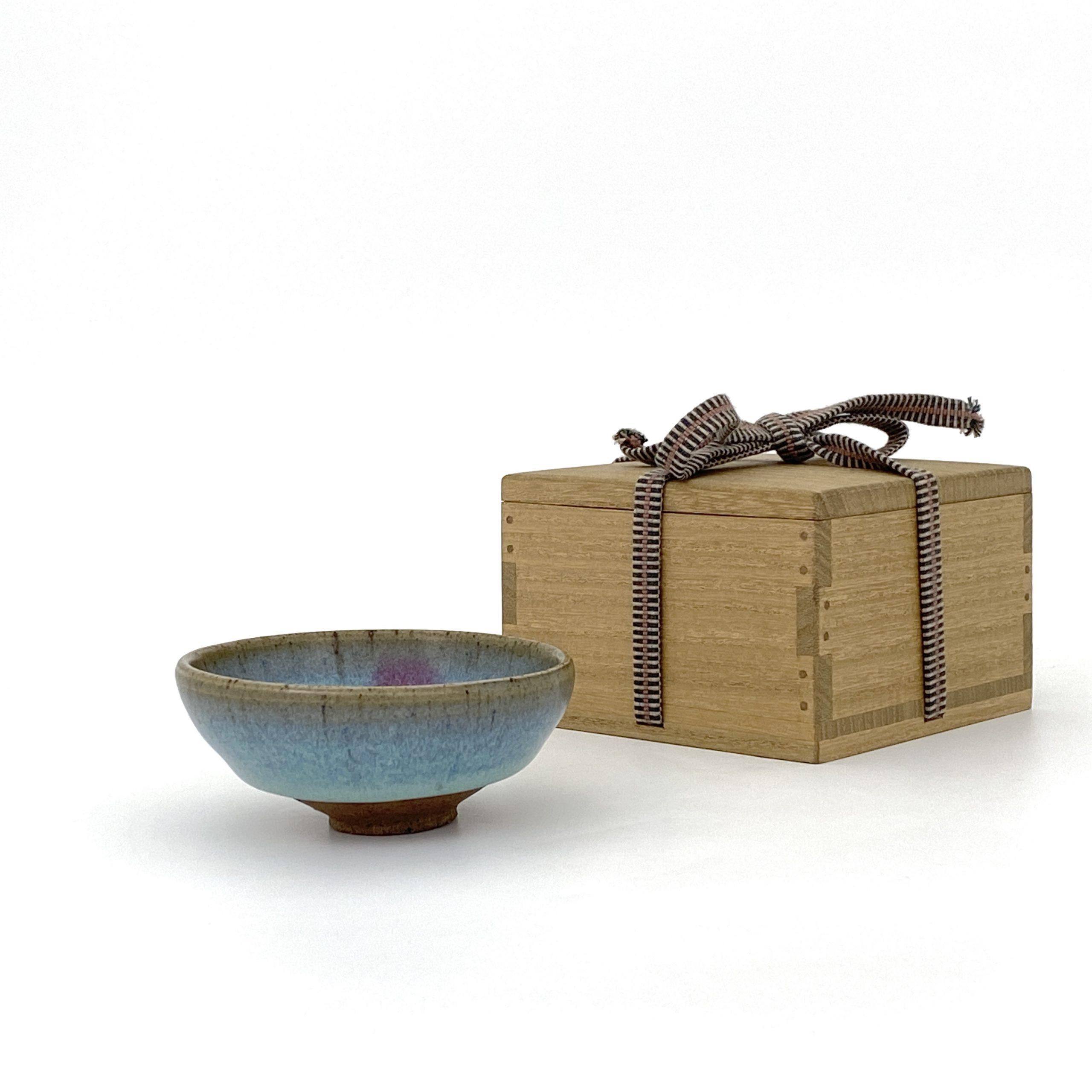 20029元 鈞窯 天藍釉 紫斑紋 杯