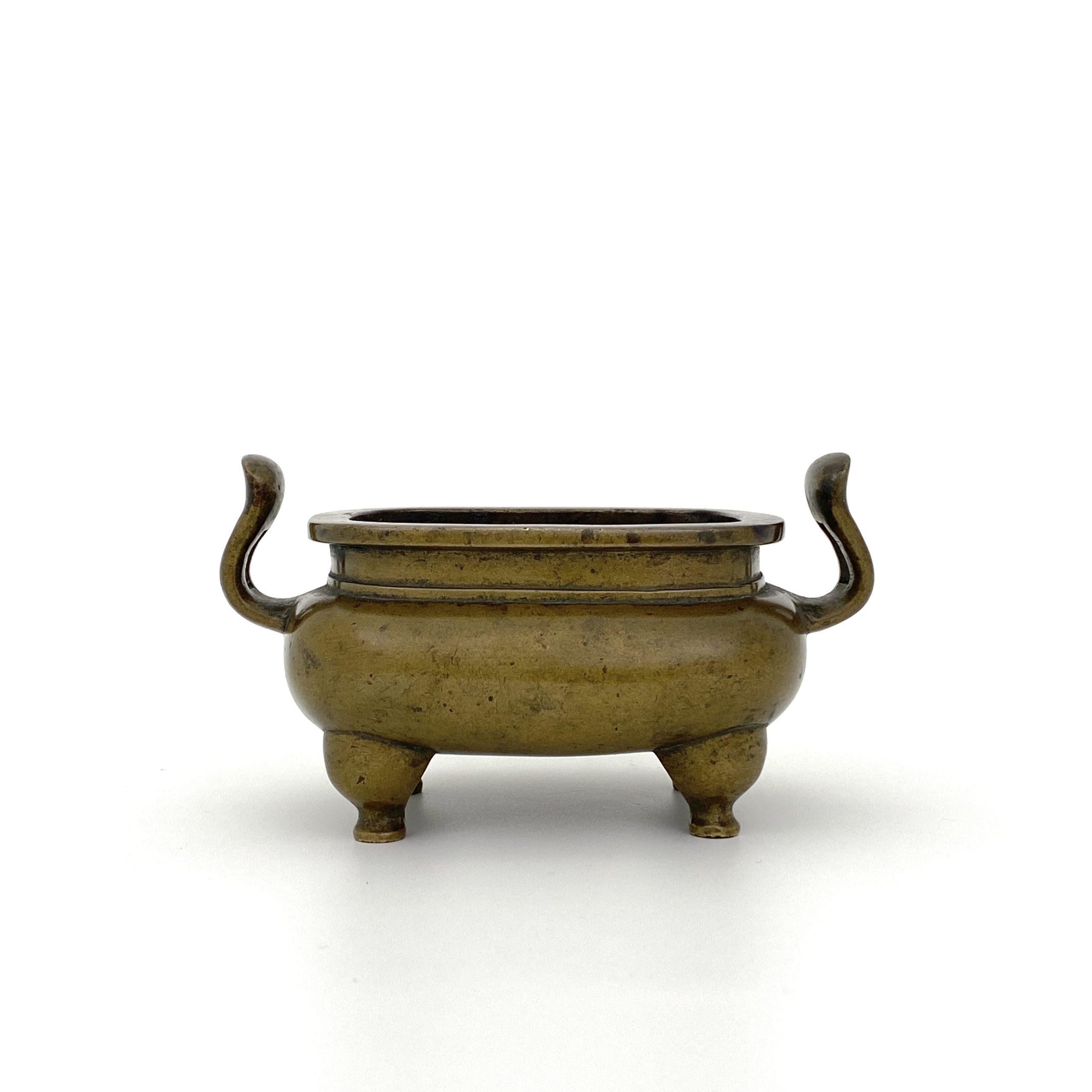 20003十七世紀「大明宣徳年製」款 銅 朝冠耳爐