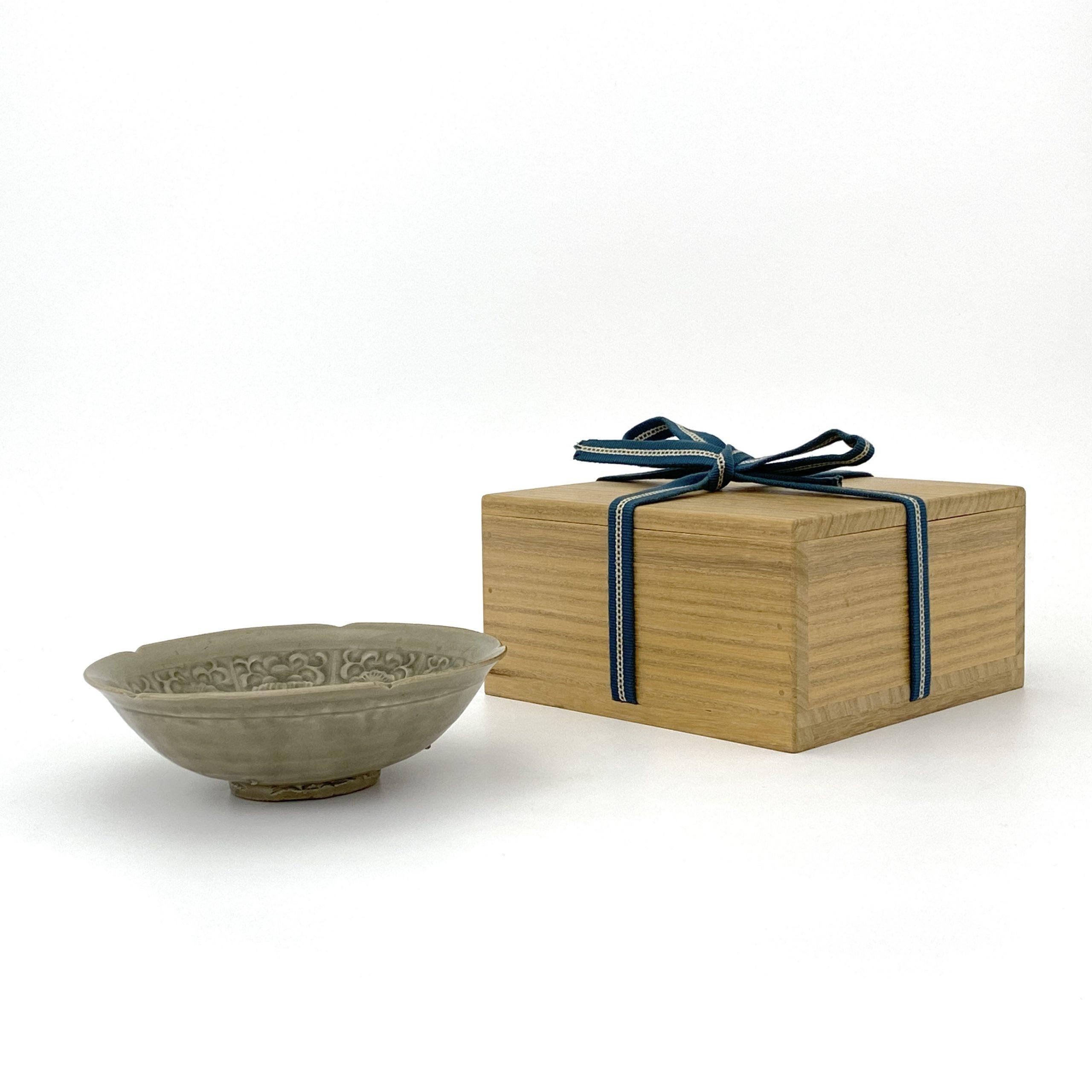 20033北宋 耀州窯 刻花紋 輪花碗