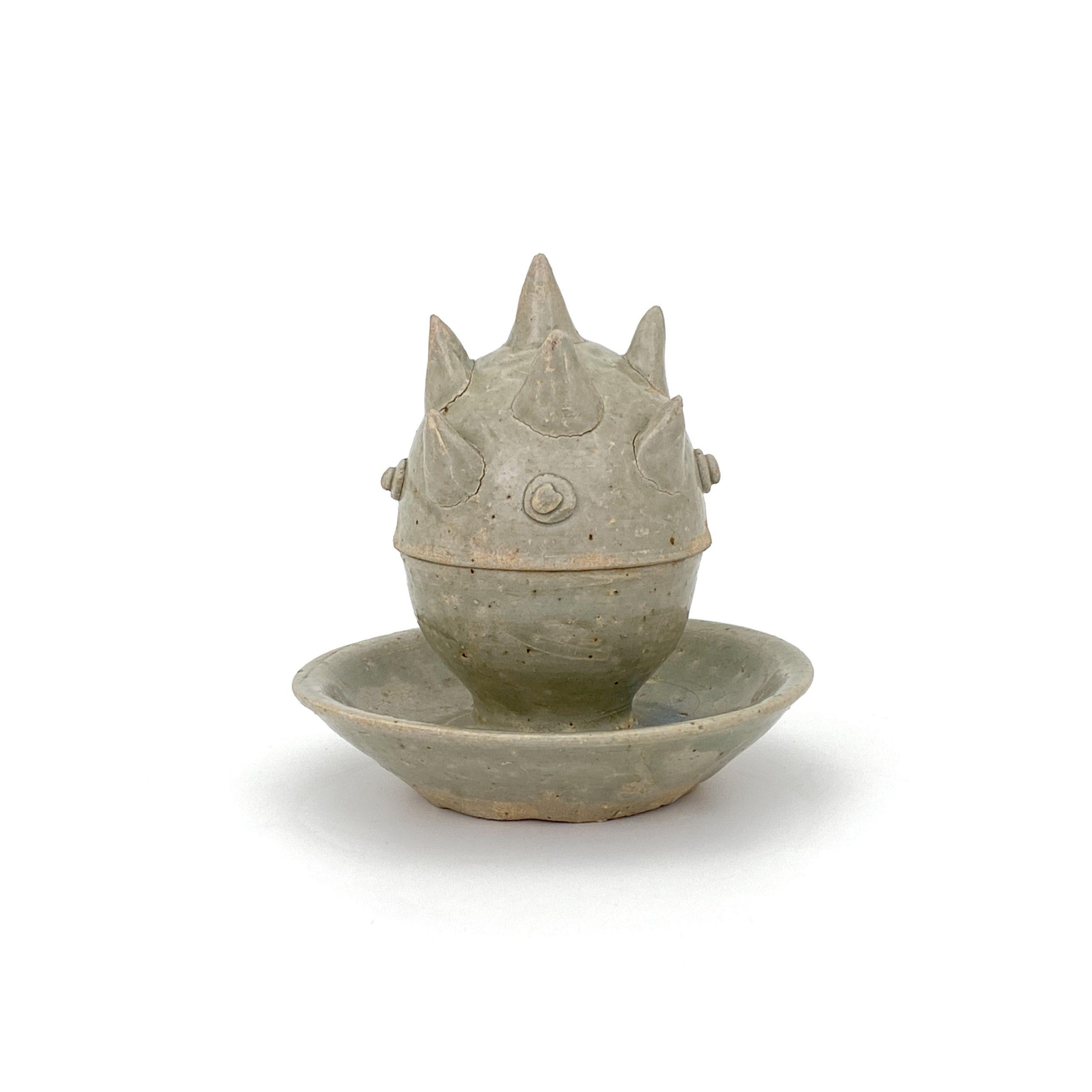 20039西晋 越州窯 蓋盒