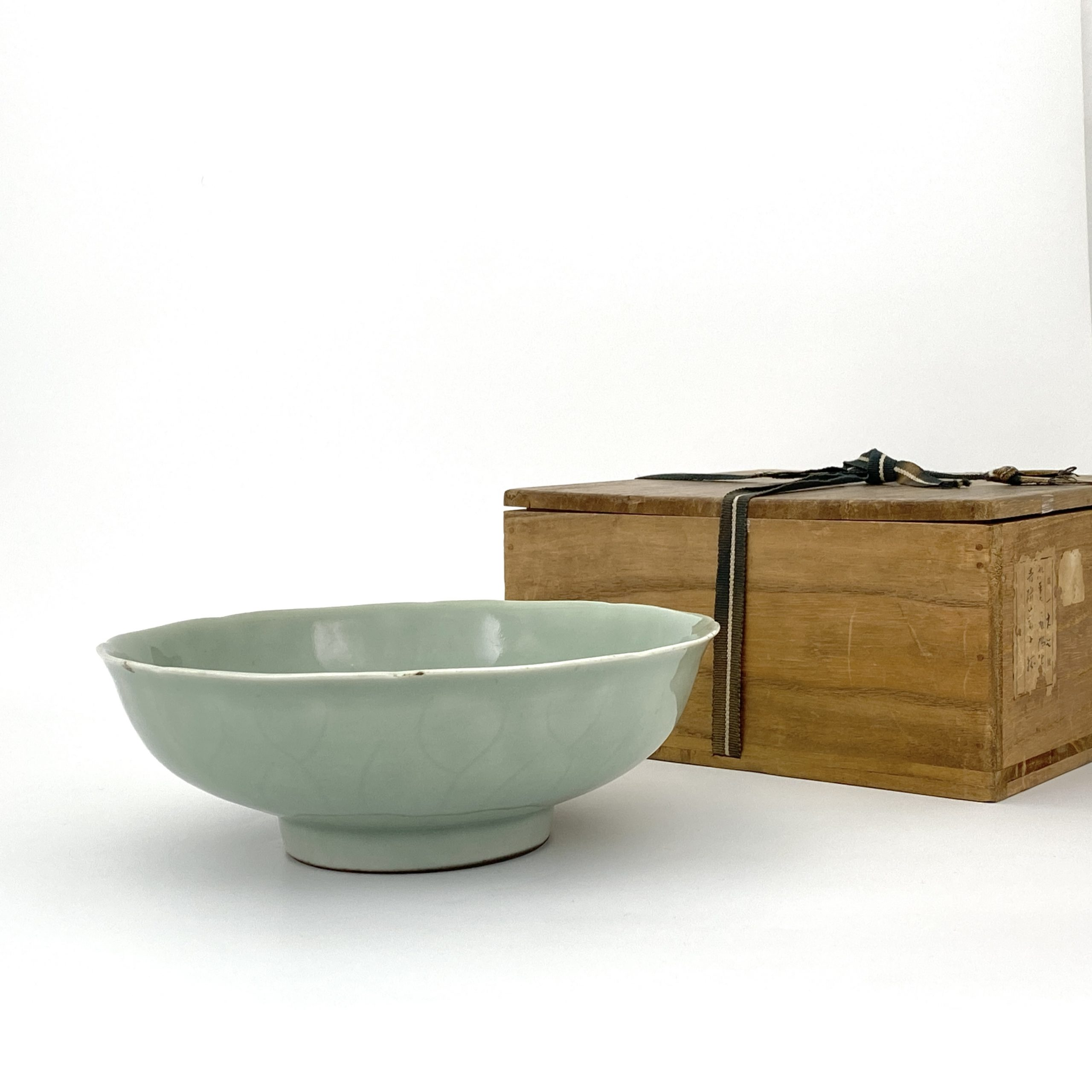 20058清 粉青釉 荷葉鉢