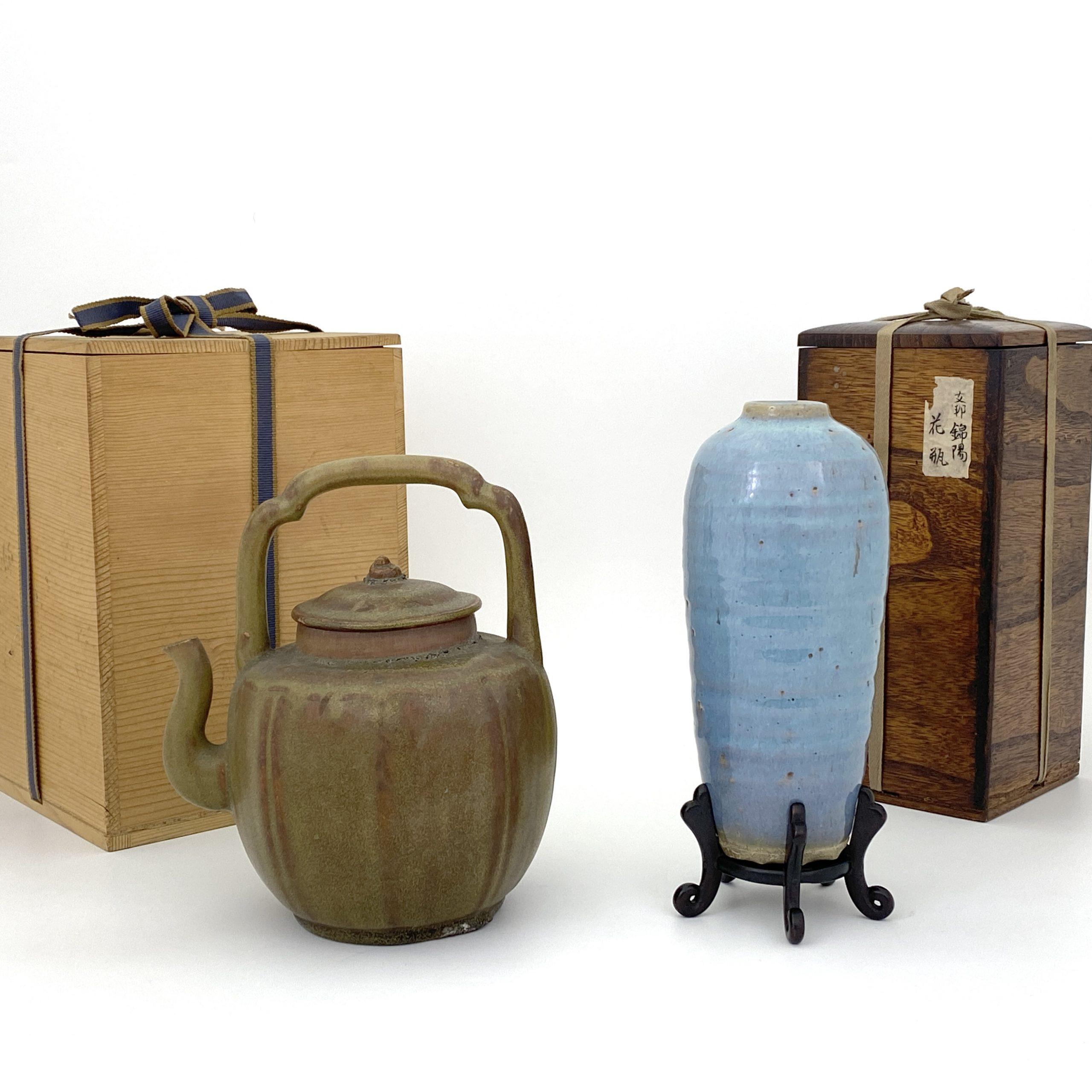 20060宜興鈞釉 瓶等 計2件