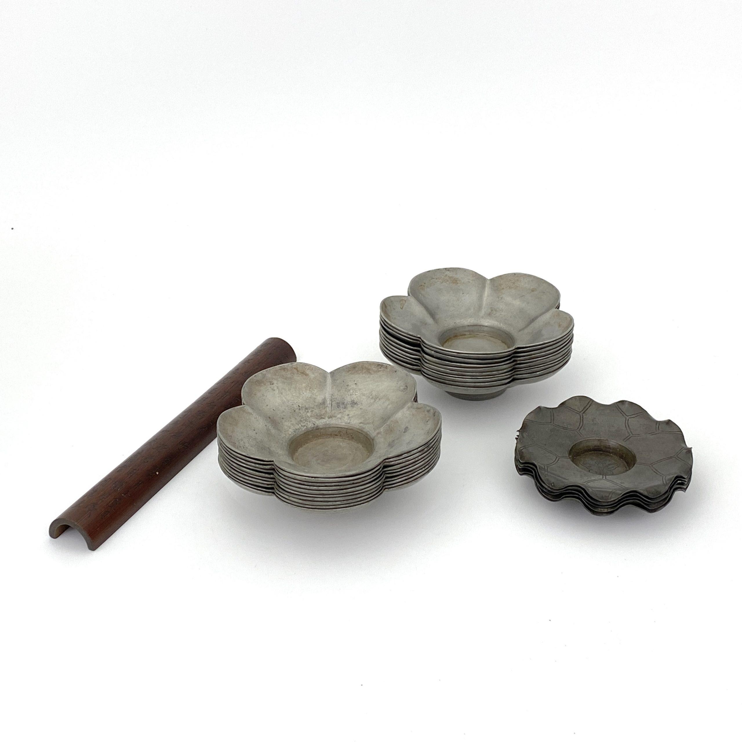 20064「石生刻」款 竹雕 詩文紋 茶量等 計3種