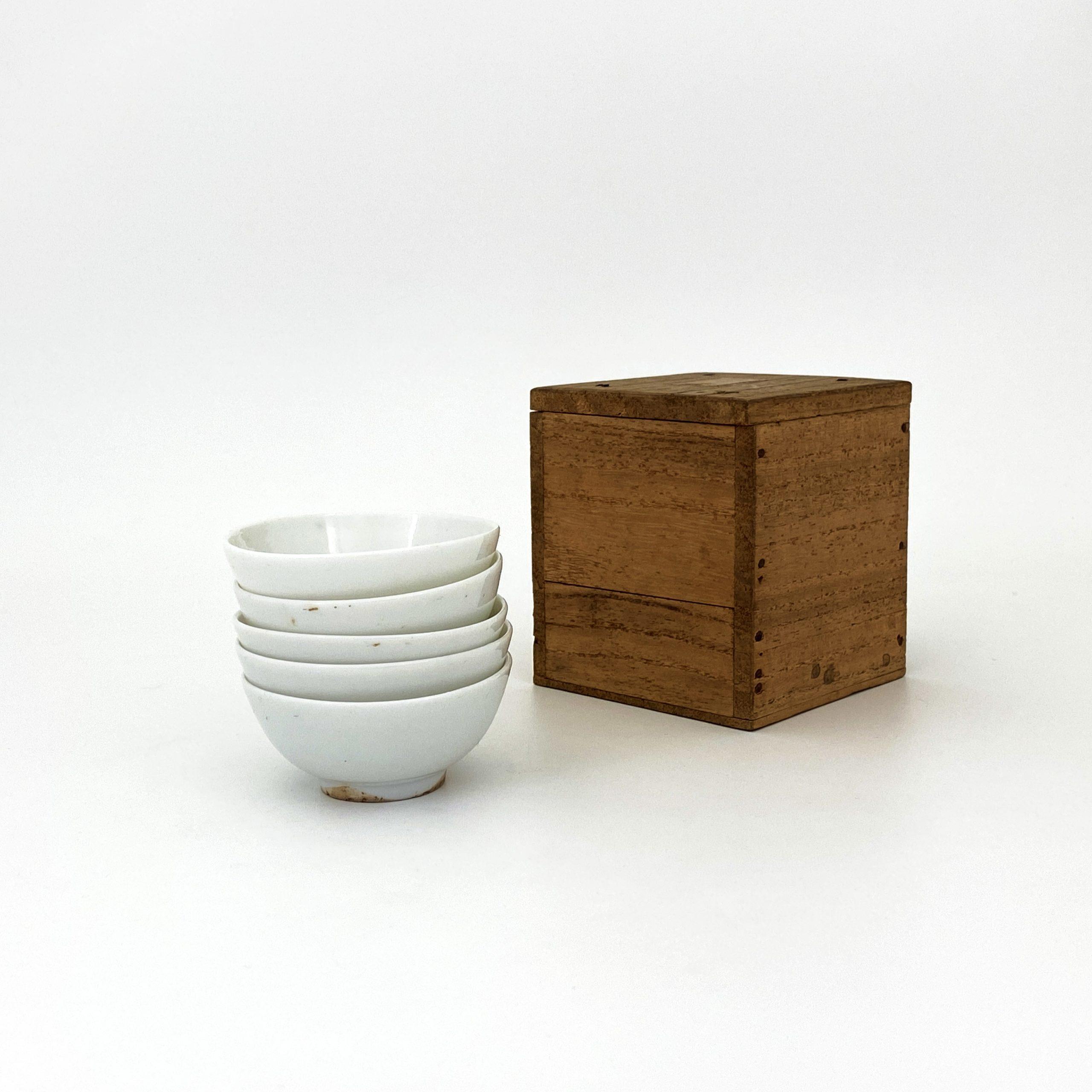 20073清 白磁 煎茶碗⑤