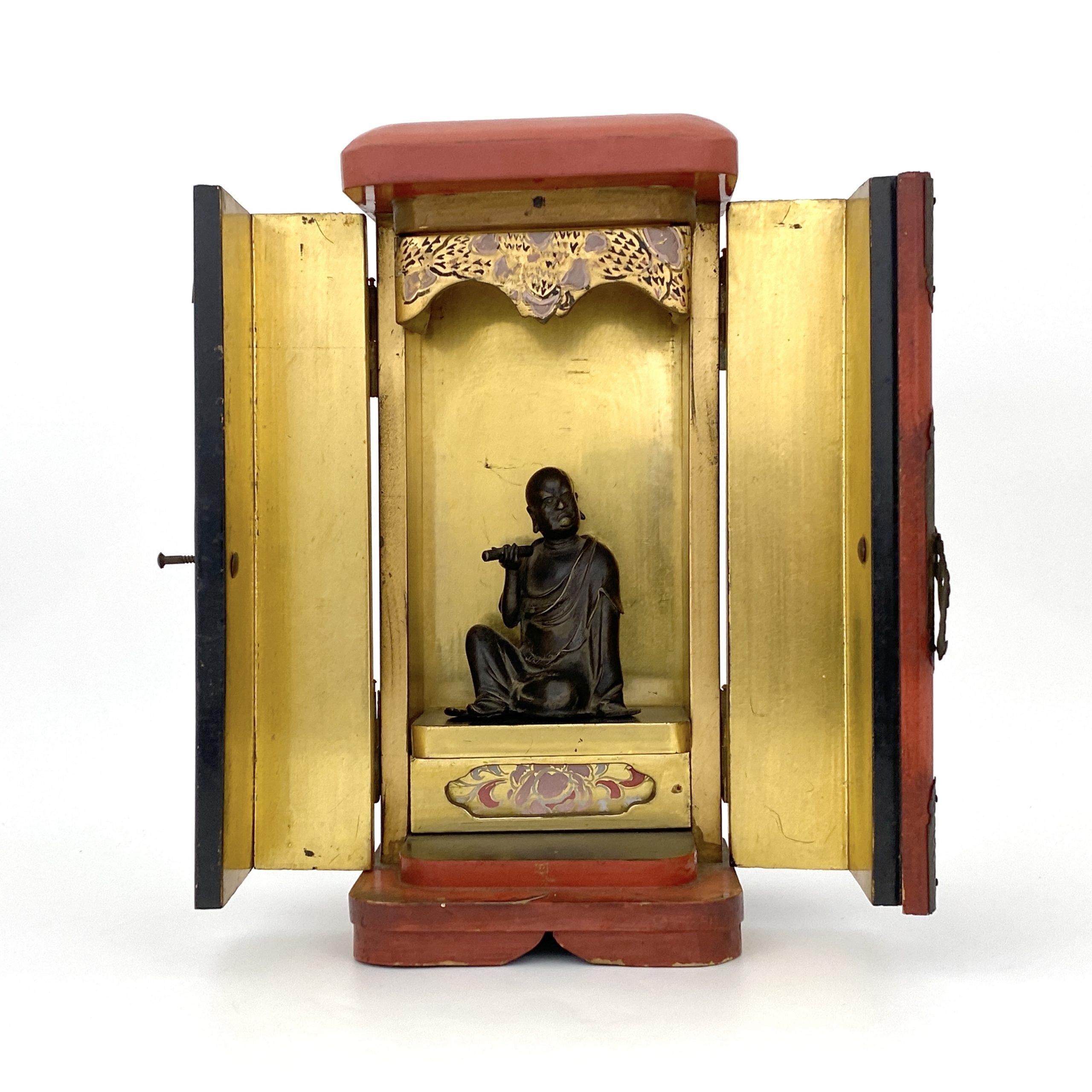 20084明 銅 羅漢坐像
