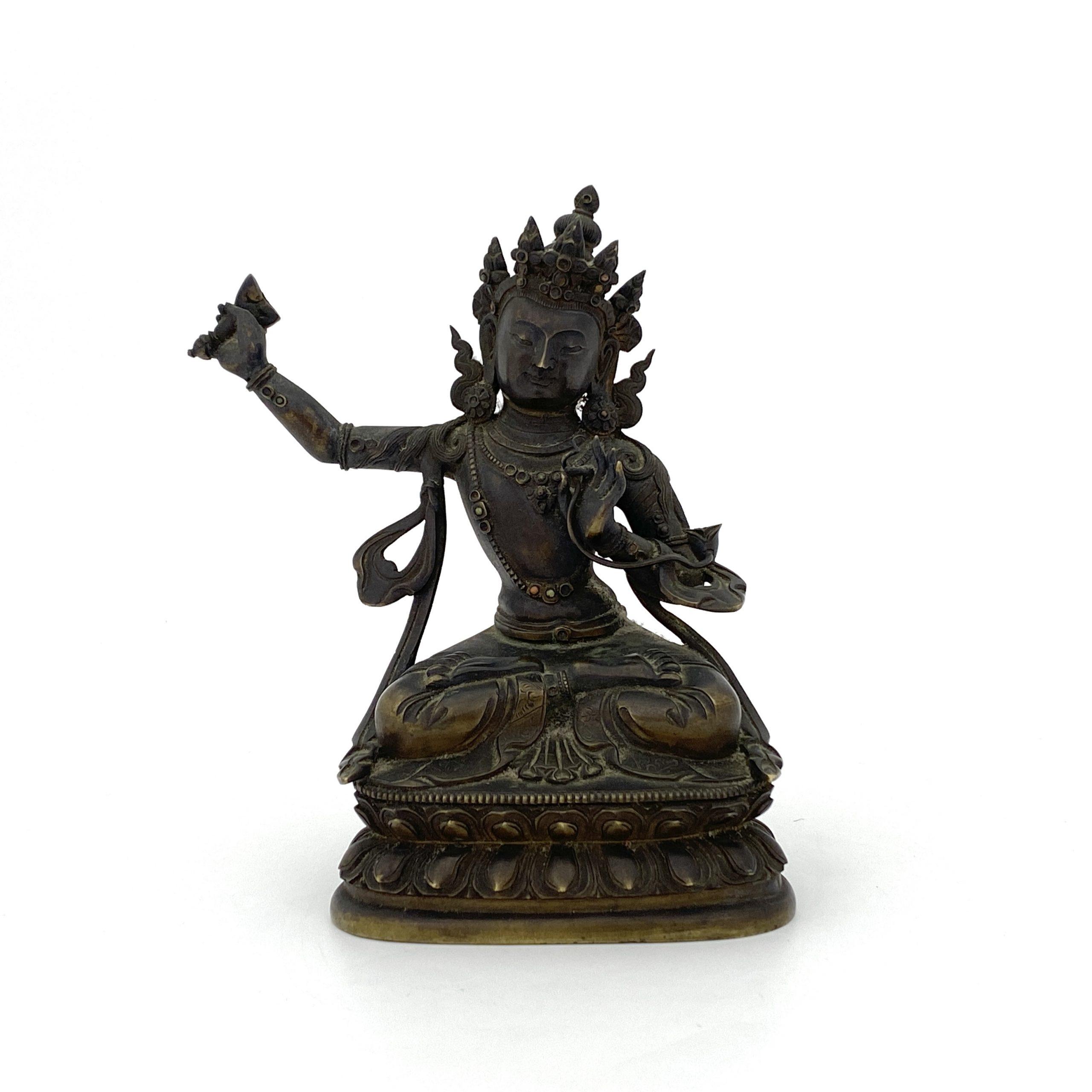 20094清十八世紀 銅嵌八寶 文殊菩薩